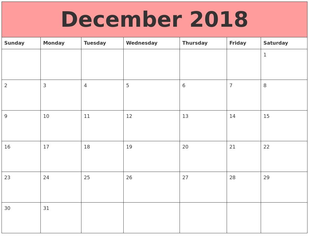September 2018 Printable Calendar Templates-8X 10 Monthly Calaendar Printable