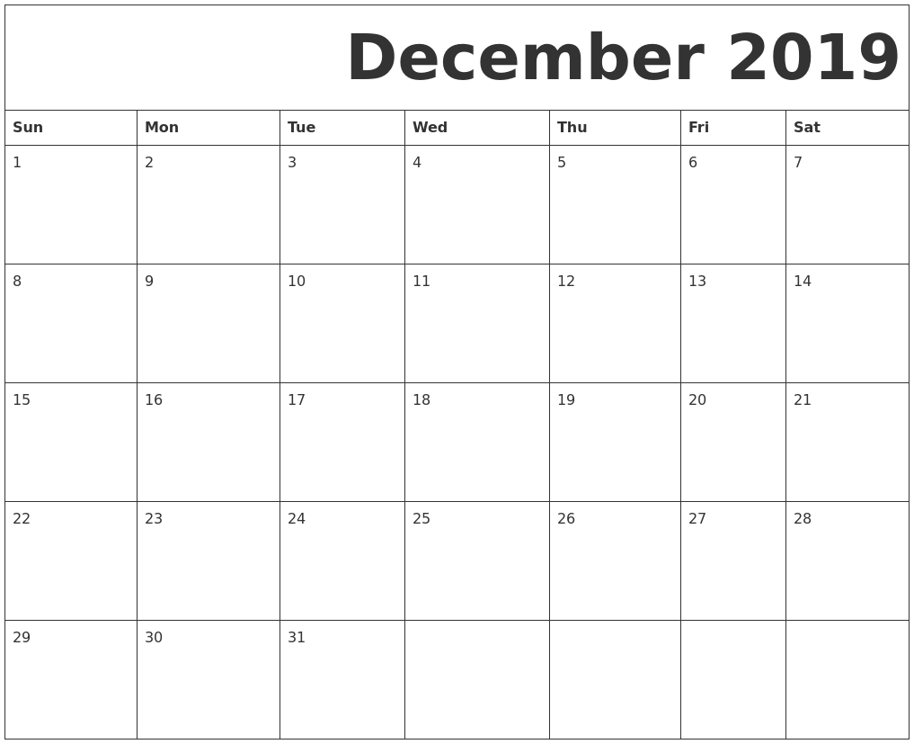 September 2019 Calendar-Blank September Calendar Monday Start