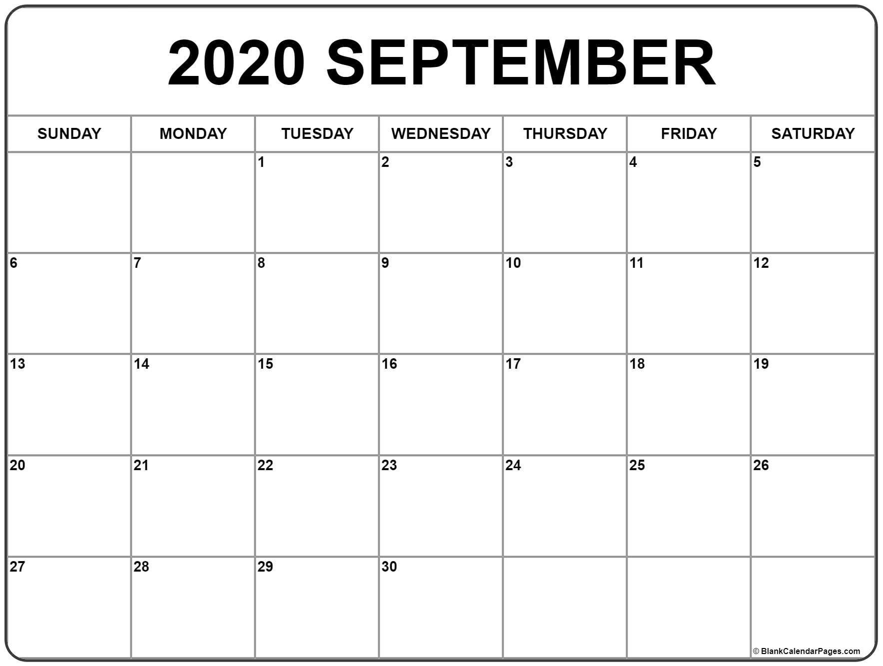 September 2020 Calendar | Free Printable Monthly Calendars-Google Calendar September 2020 Template