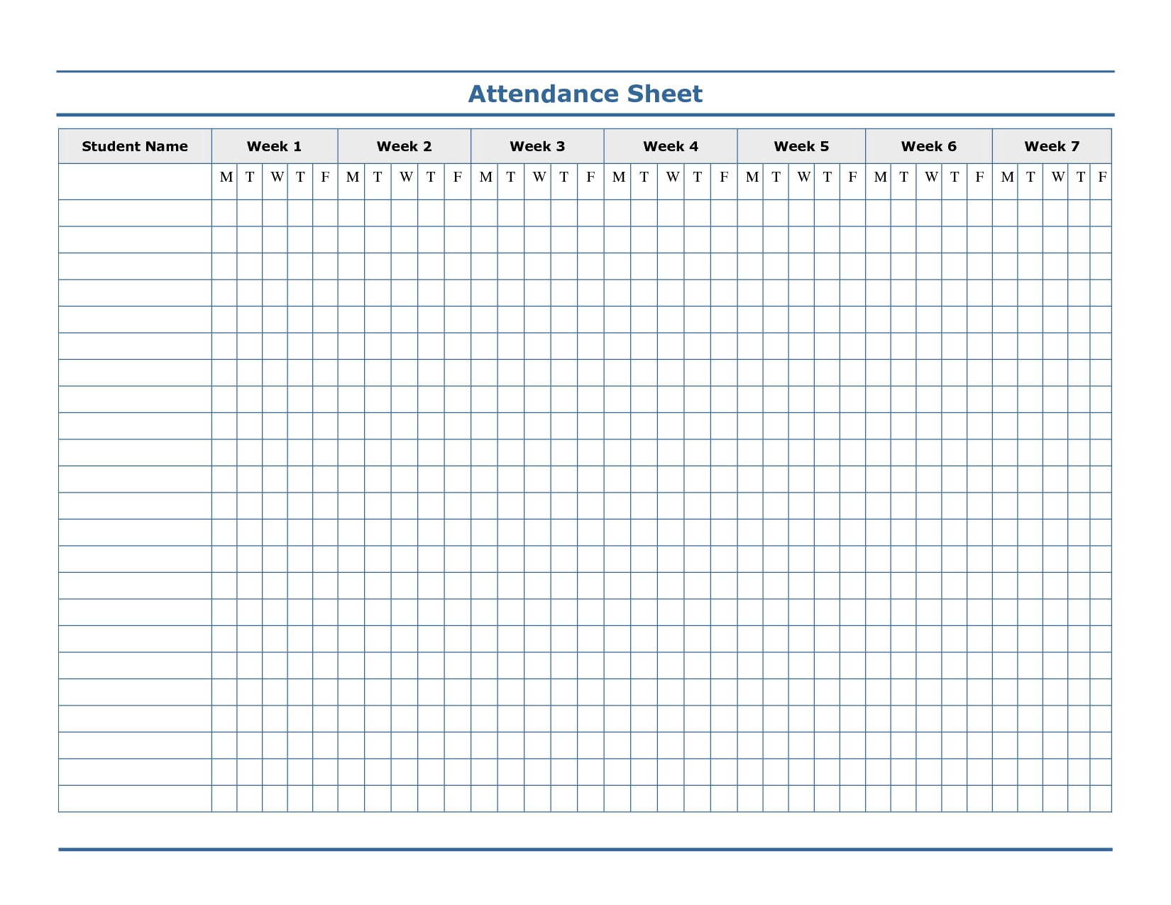 Sheet Free Meeting Attendance Mplate In Word Microsoft-Monthly Sign Up Sheet Templates
