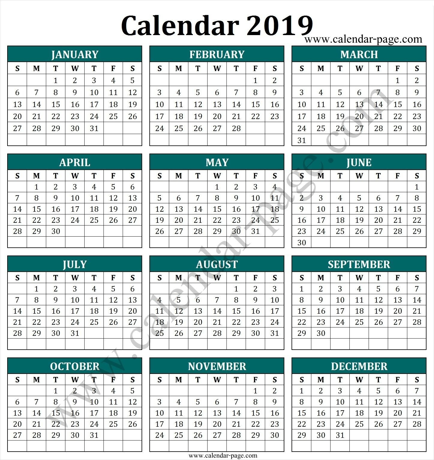 South Africa 2019 Calendar With Public Holidays | Calendar-Public Holidays South Africa