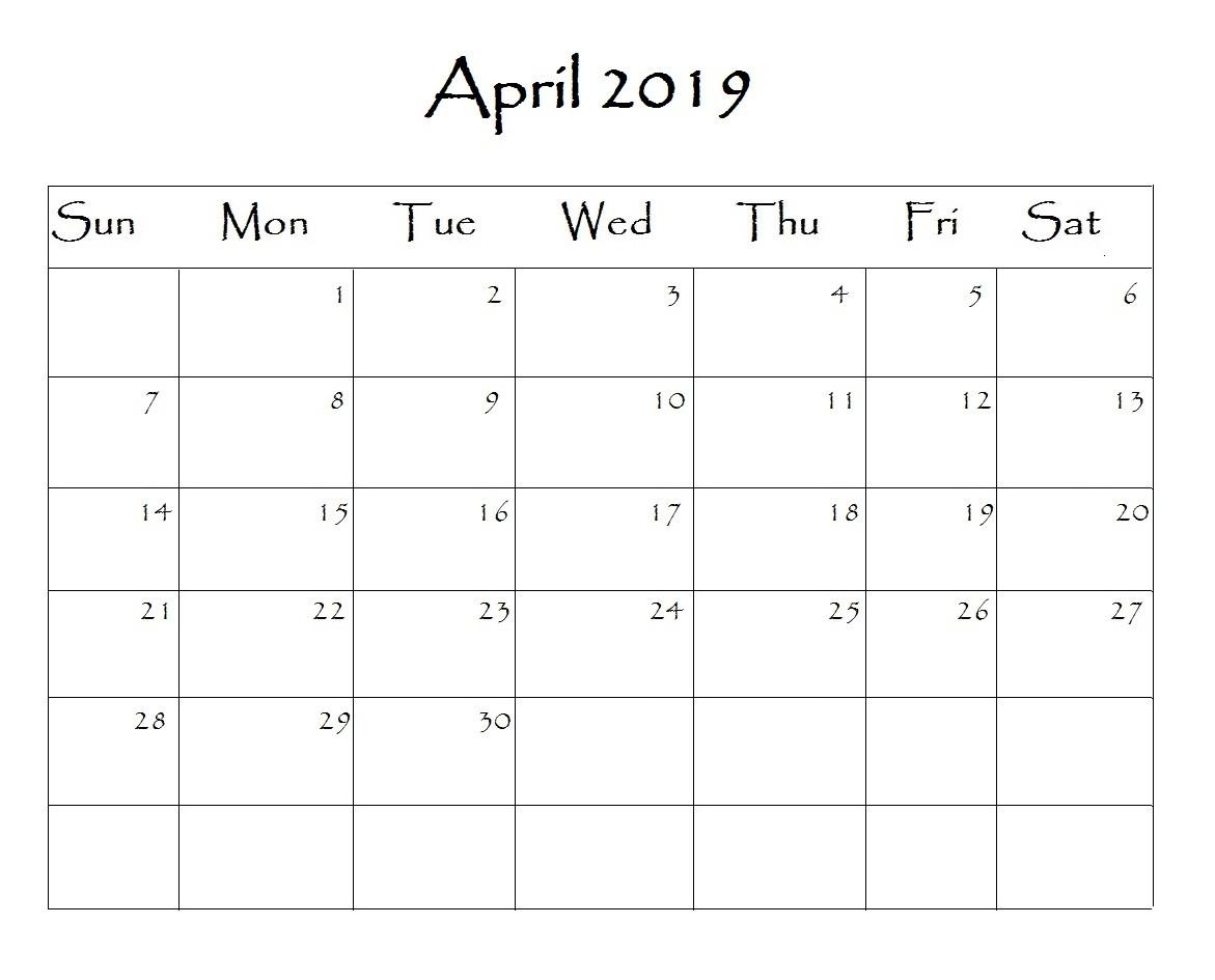 South Africa April 2019 Calendar Archives - 2019 Calendar-Calendar Template South Africa