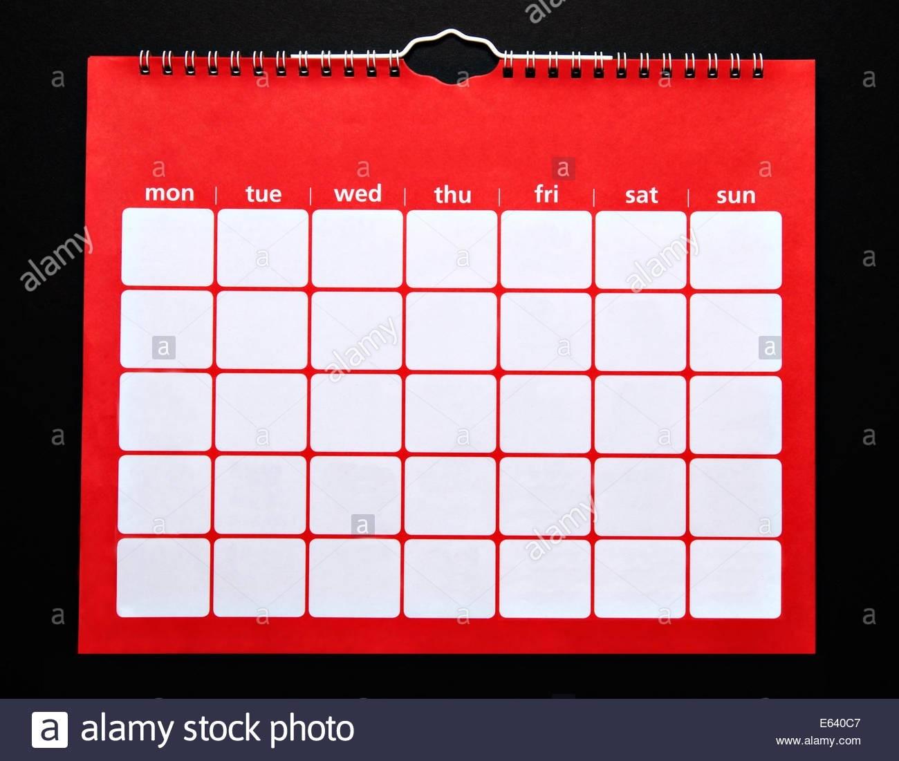 Spiral Bound Calendar Stock Photos & Spiral Bound Calendar-Spiral Bound Monthly Calendar