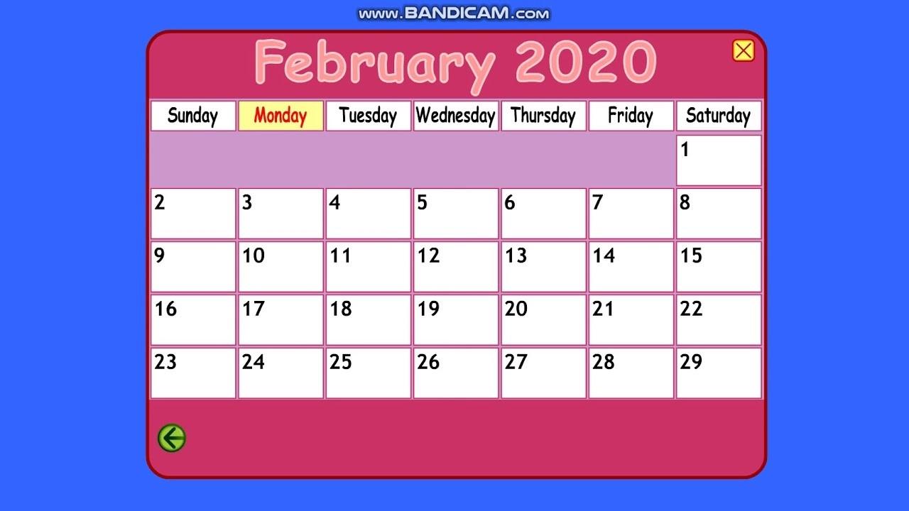 Starfall Calendar February 1, 2020-Starfall Calendar January 2020