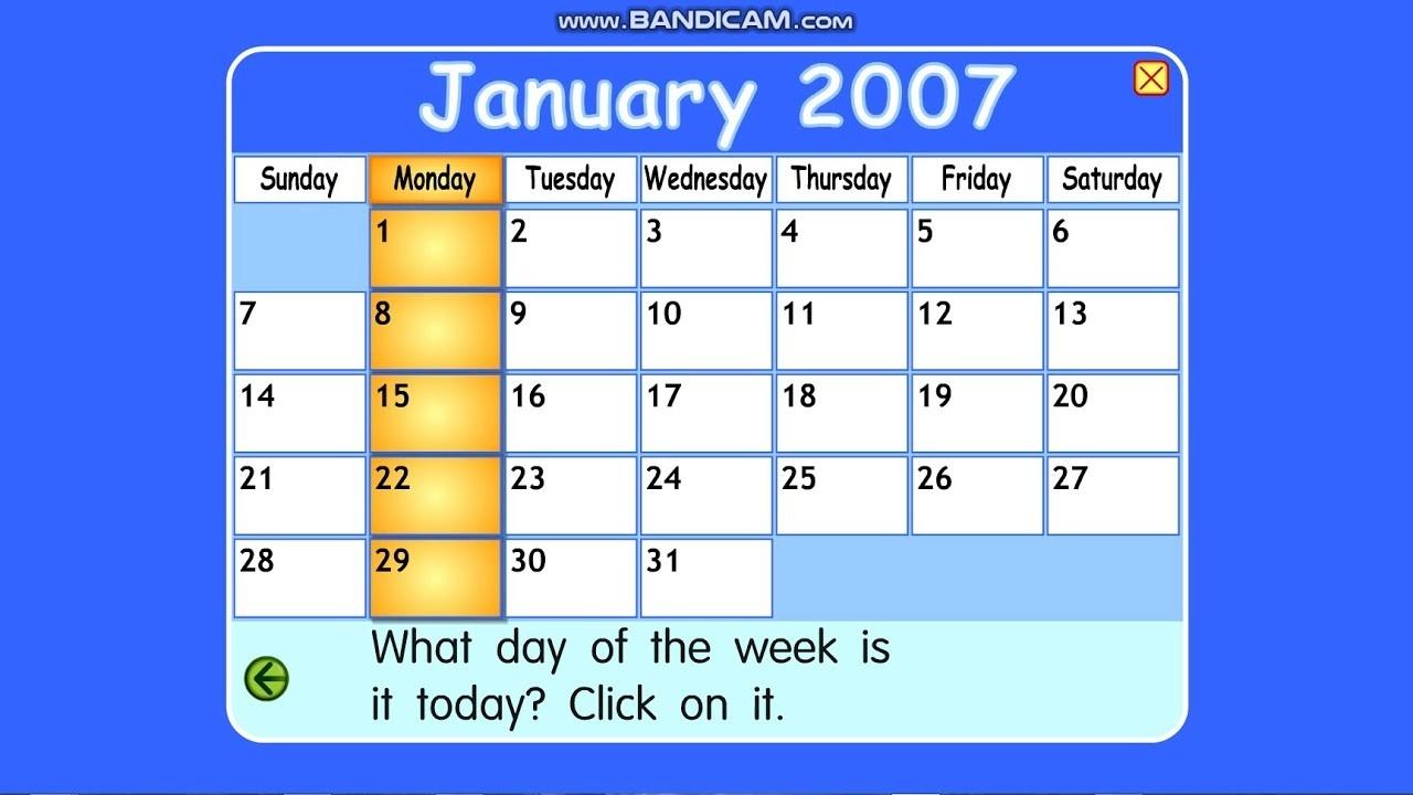 Starfall Calendar January 1, 2007-Starfall Calendar January 2020