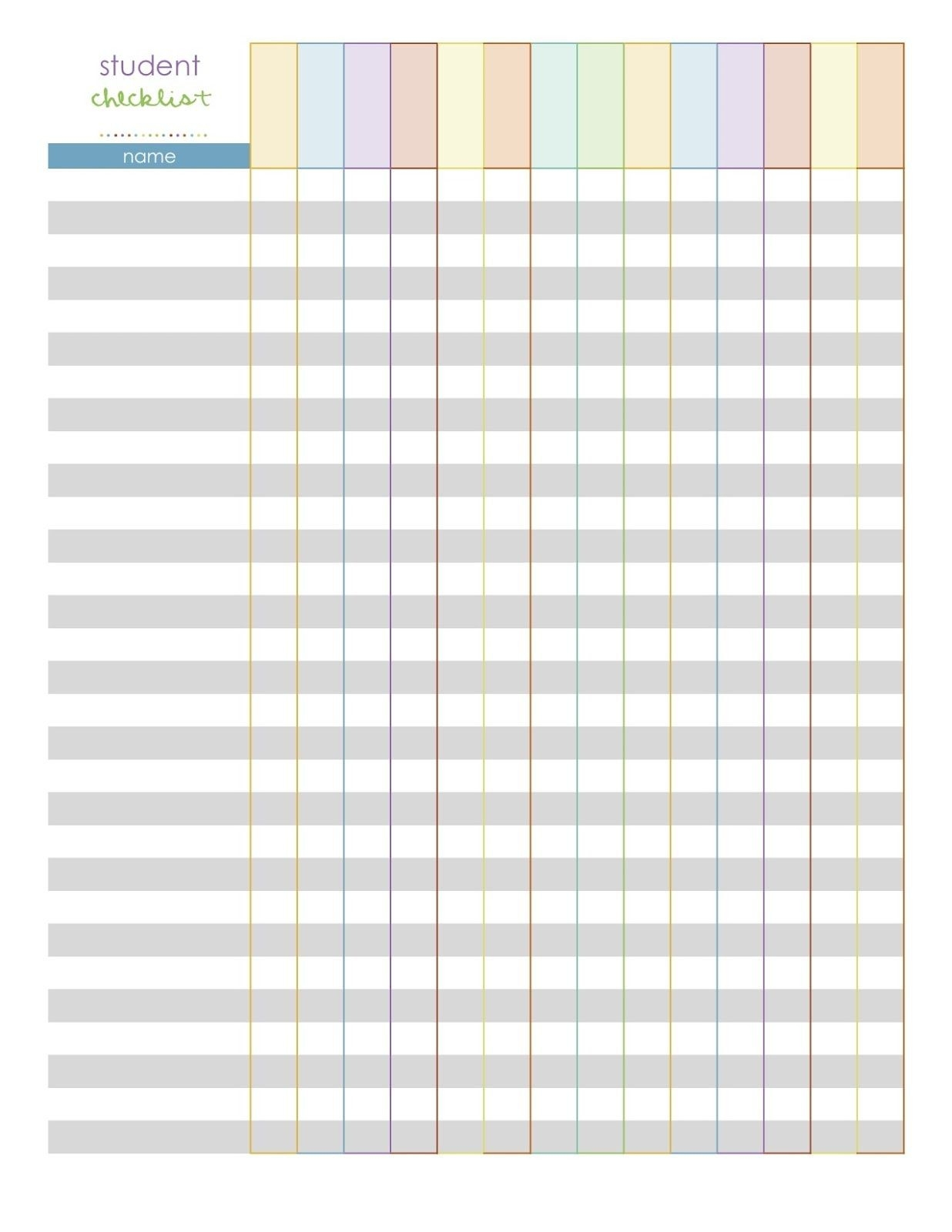 Student Planner Templates | Monthly Planning Pages- A-Monthly Calendar List Template