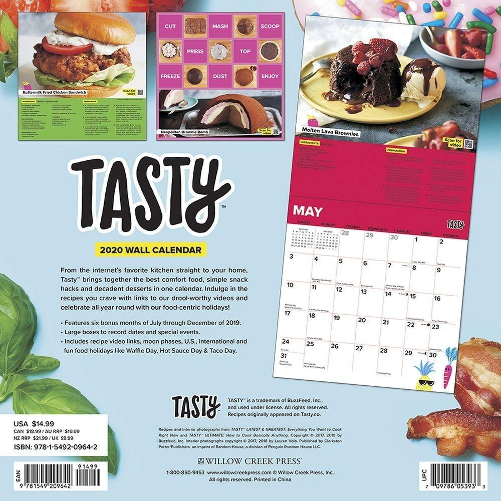 Tasty 2020 Wall Calendar-2020 Calendar With Food Holidays