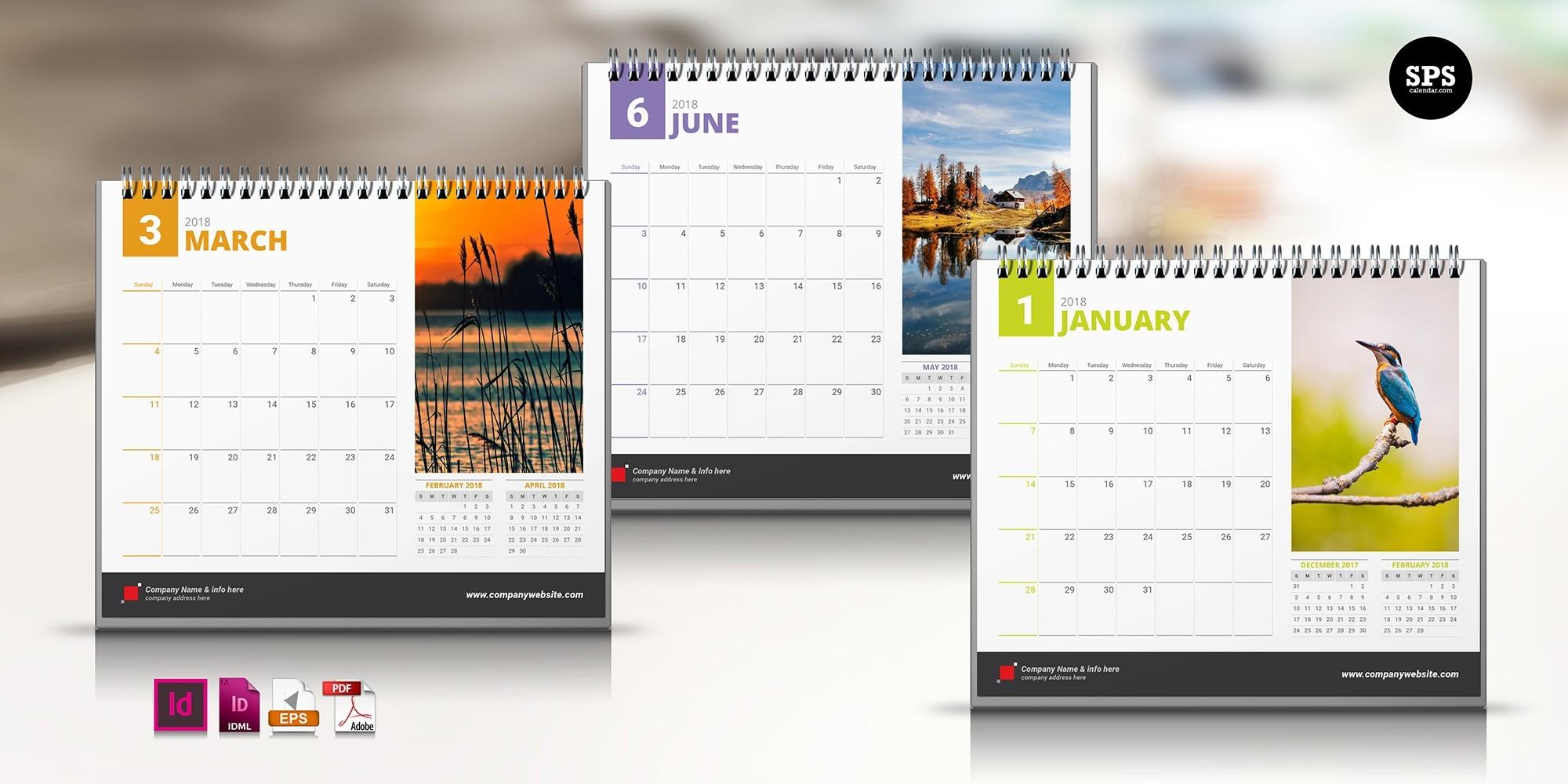 Template Calendar 2018 Indesign Free | Printable Calendar 2019-Calendar Template Indesign Free