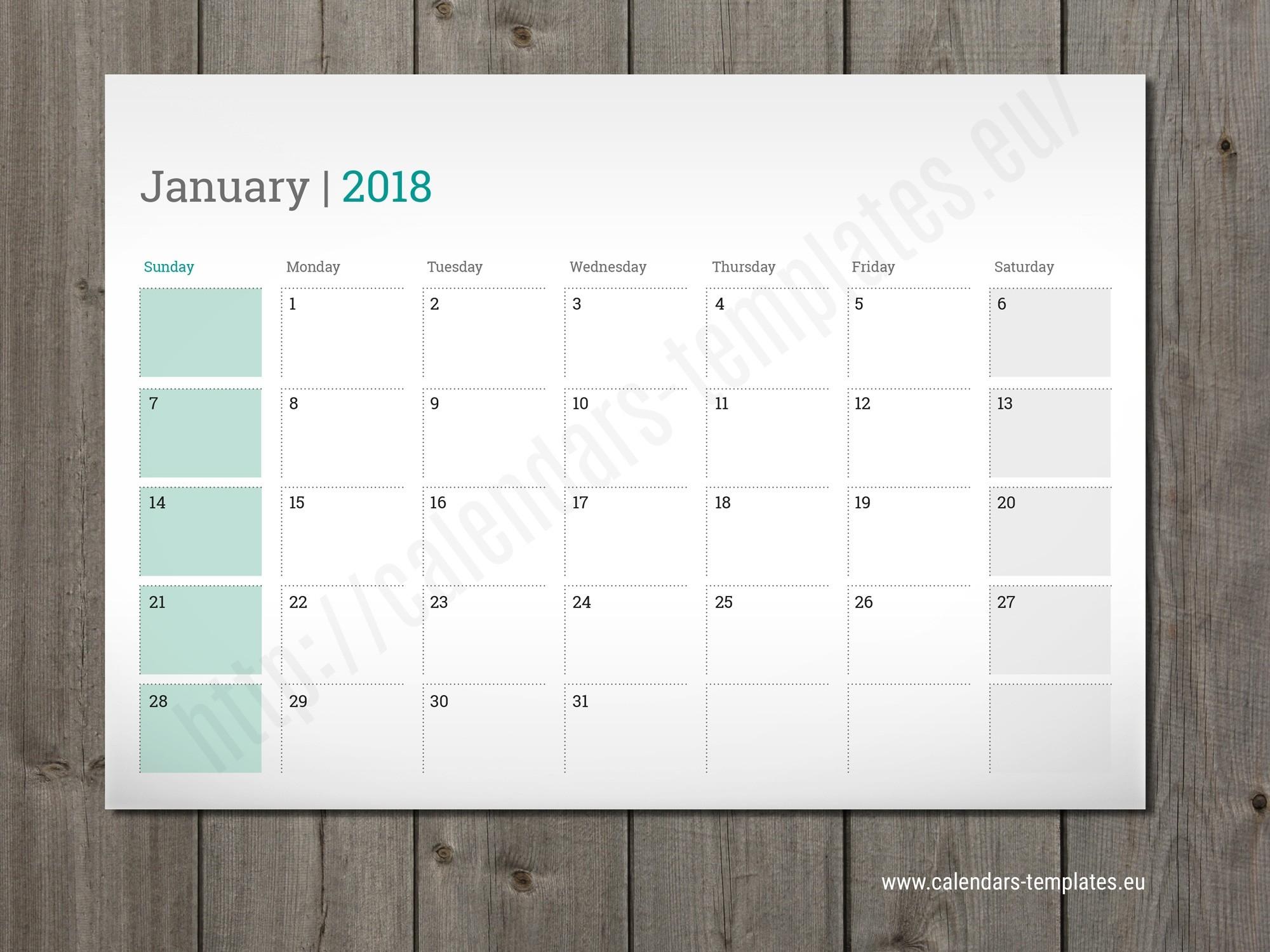 Template Calendar 2018 Indesign | Printable Calendar 2019-Calendar Template Indesign Free