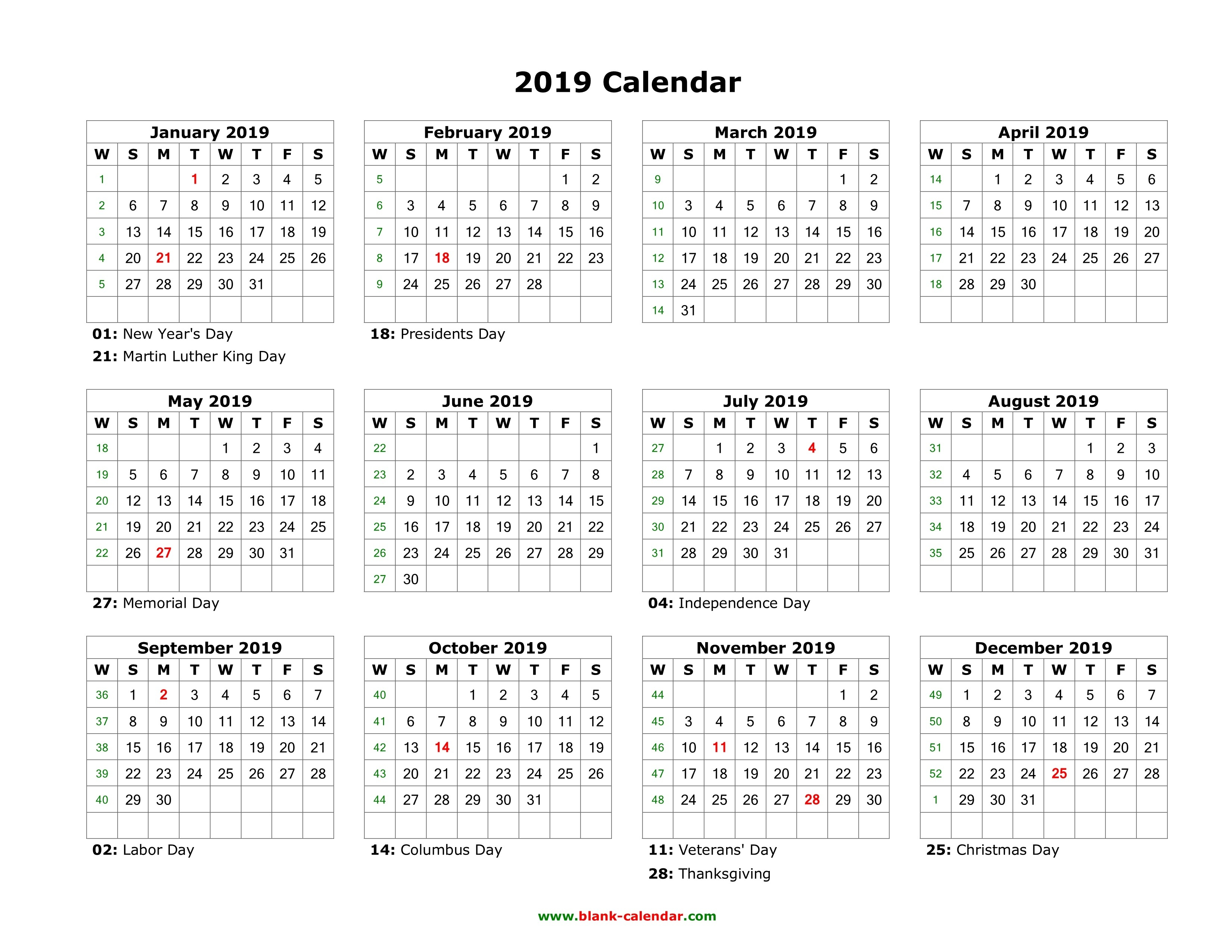 Template Calendar 2019 Indesign Free | Printable Calendar 2019-Indesign 2020 Calendar Template