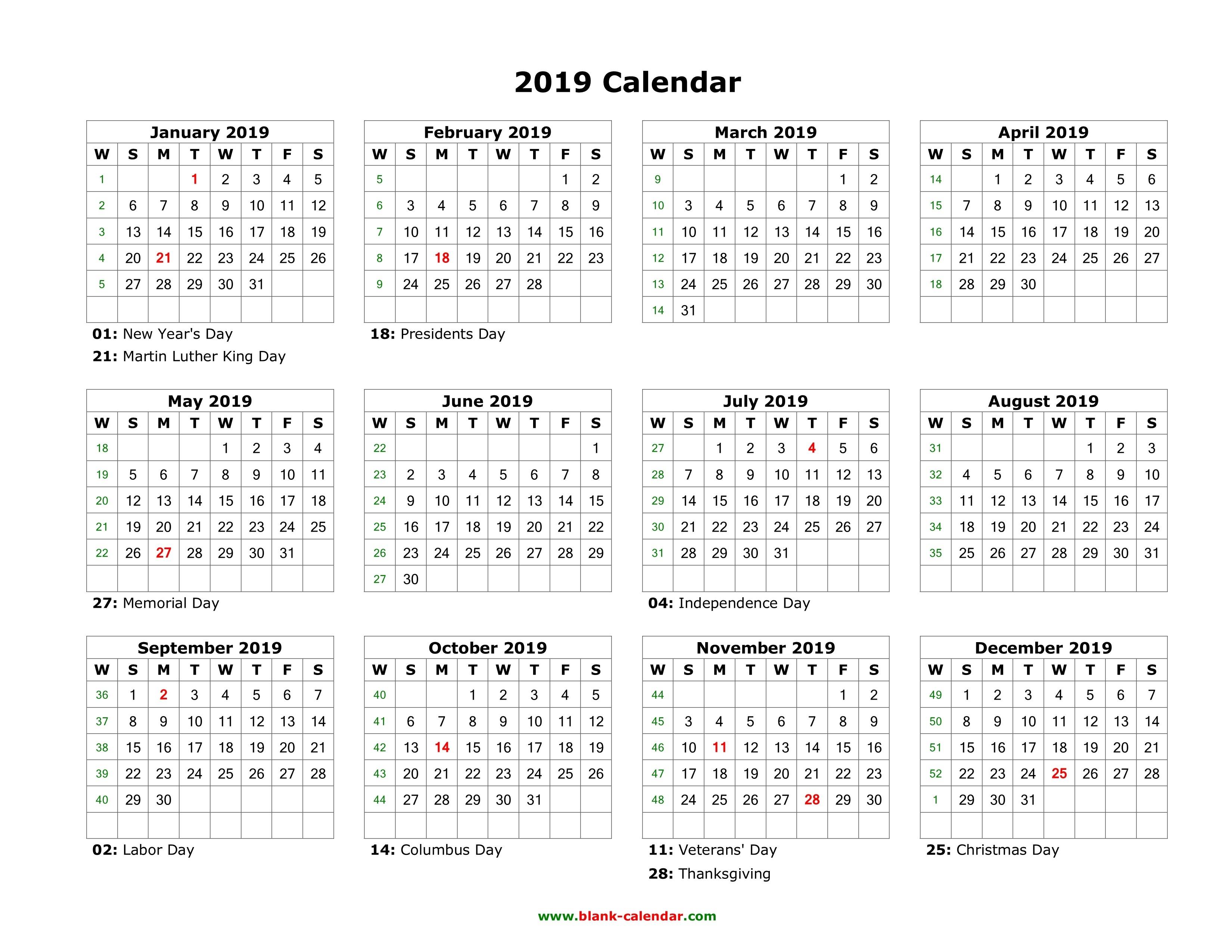 Template Calendar 2019 Indesign | Printable Calendar 2019-Calendar Template Indesign Free