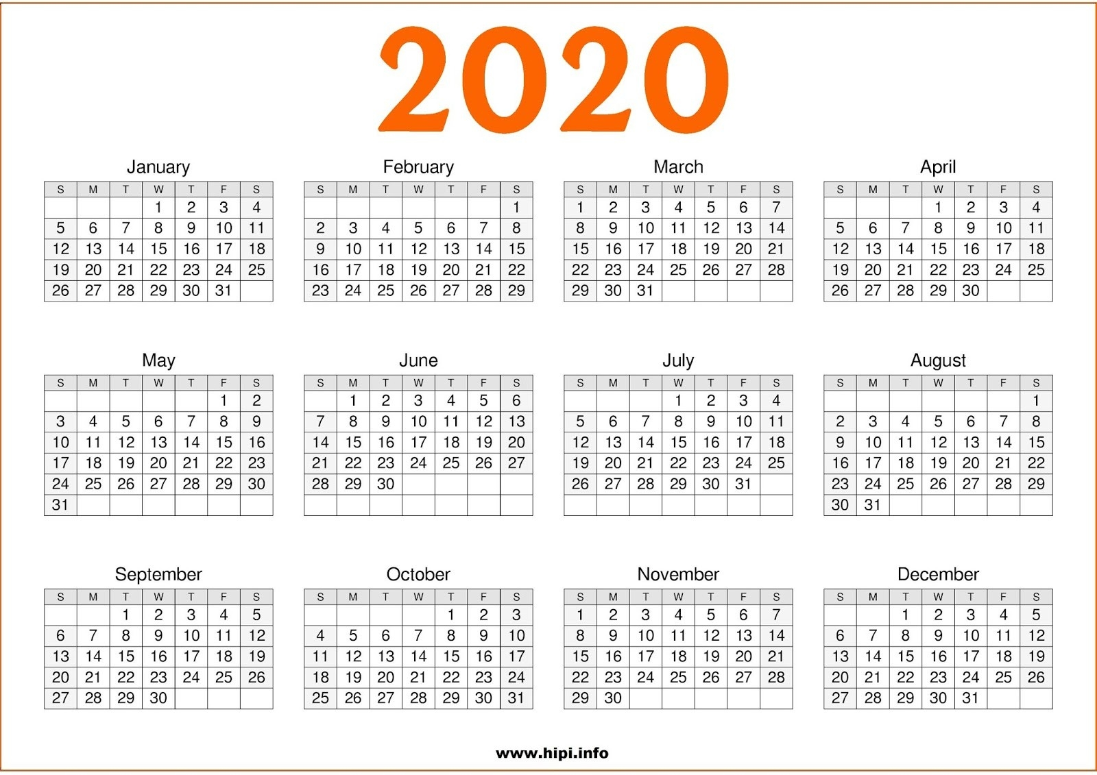 Twitter Headers / Facebook Covers / Wallpapers / Calendars-Free 2 Page Calendar Templates 2020