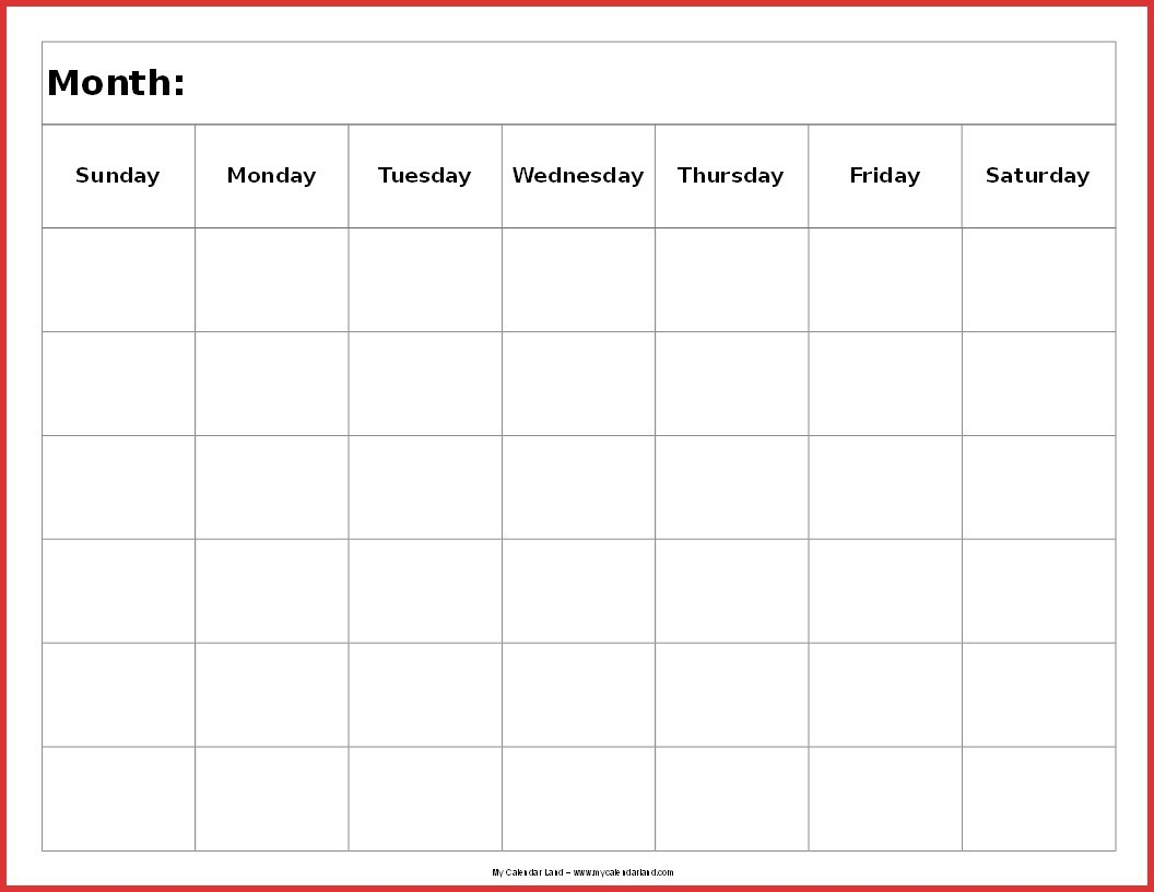Unique 6 Week Printable Calendar | Job Latter-Blank 6 Week Calendar Template