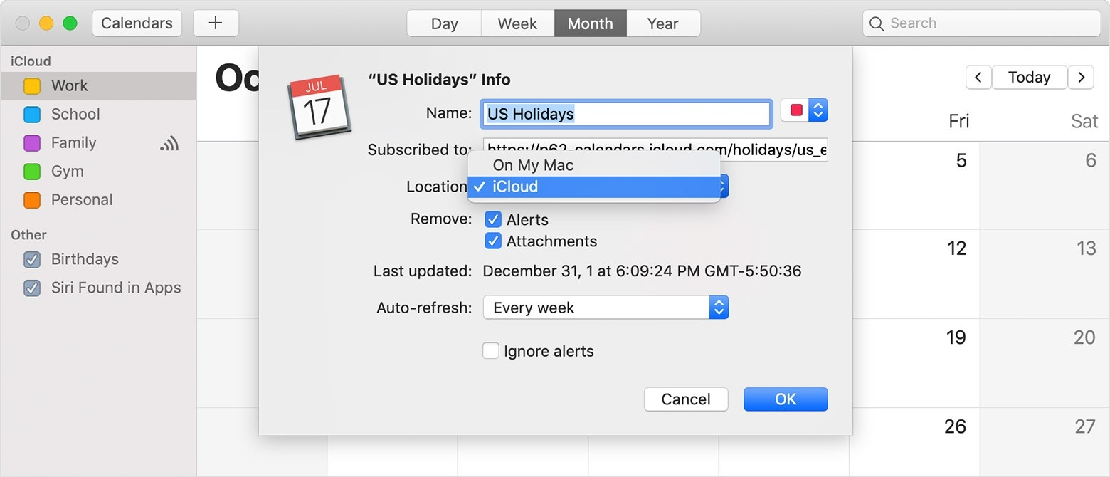 Use Icloud Calendar Subscriptions - Apple Support-Remove Holidays From Google Calendar
