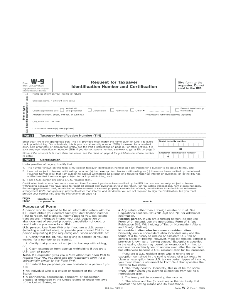 W9 Form Print - Fill Online, Printable, Fillable, Blank-Printable Blank W9 Form