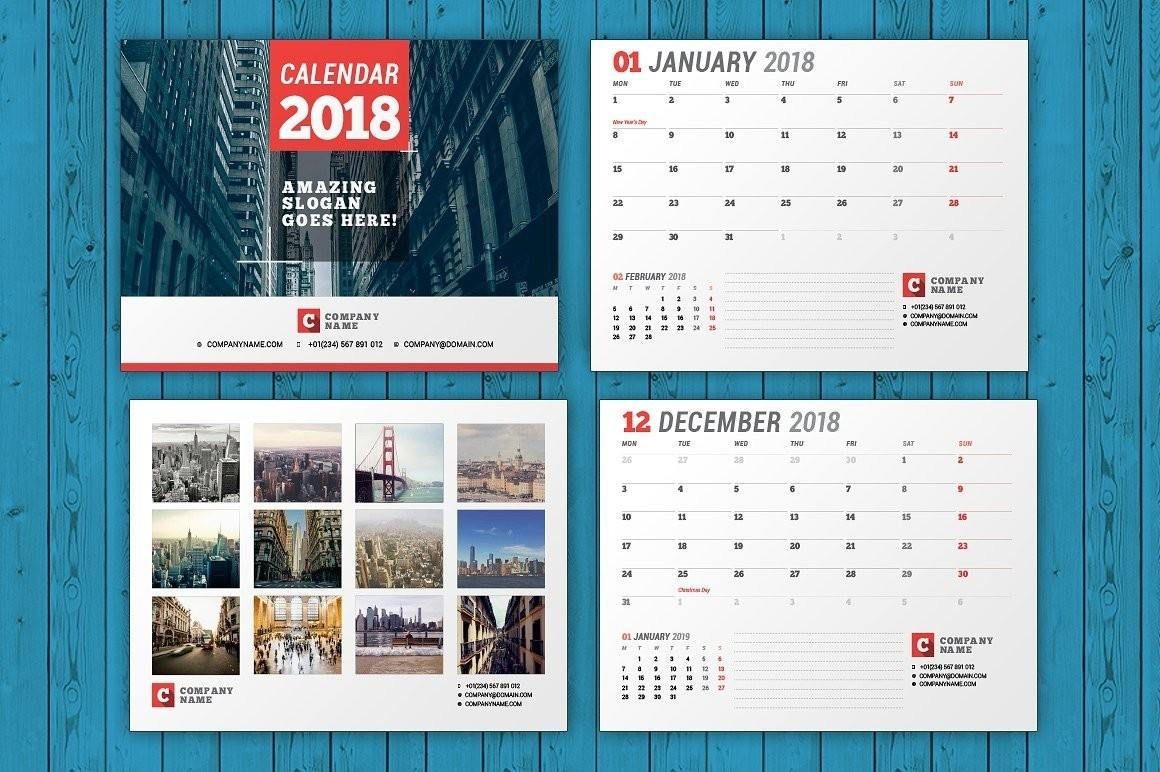 Wall Calendar 2018 Wc037 1 Within Calendar Template Indesign-Calendar Template Indesign Free