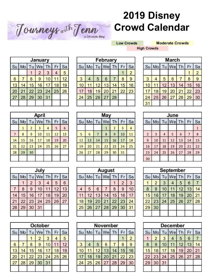 Walt Disney World Crowd Calendar: Plan For The Best Week To-January 2020 Disney Calendar