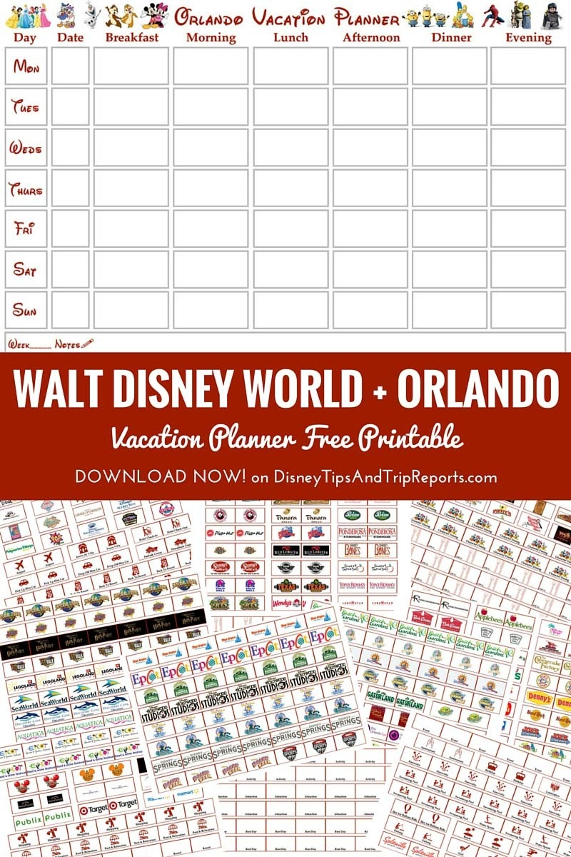 Walt Disney World + Orlando Vacation Planner | Free-Free Printable Disney Week Itinerary Template