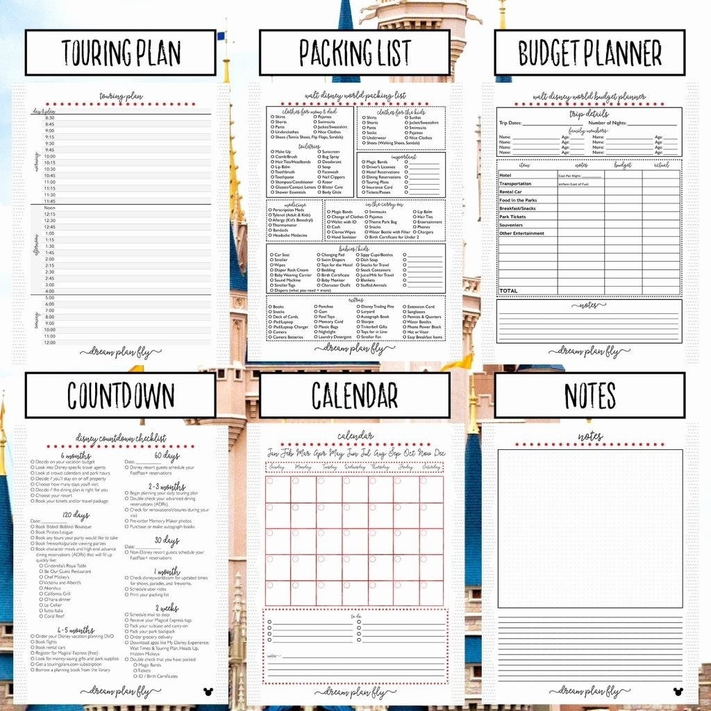 Walt Disney World Planning Spreadsheet Template And Eet-Template For Wdw Itinerary