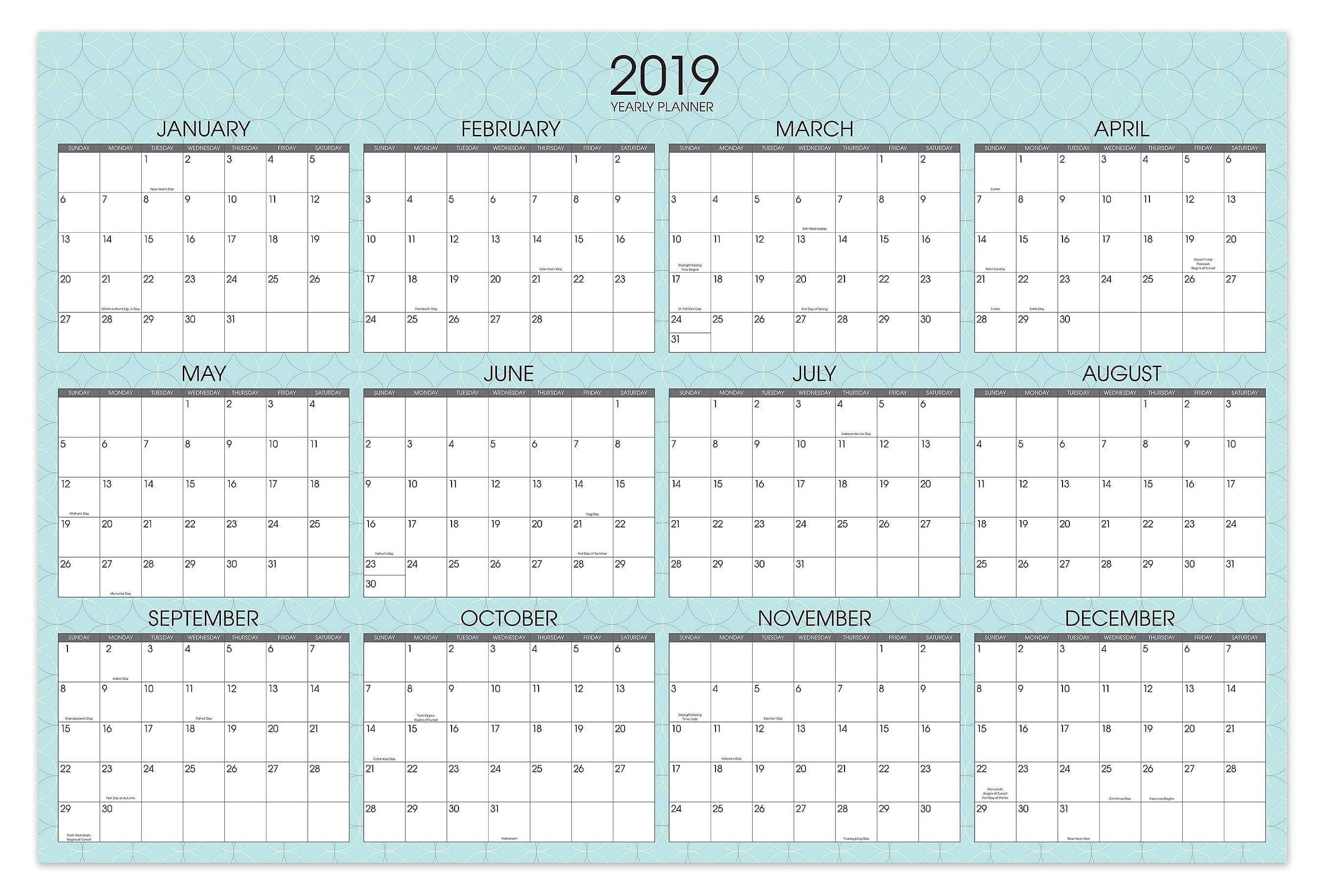 Yearly Calendar Template By Vertex42 Archives - Bi-Calendar Templates By Vertex42.com