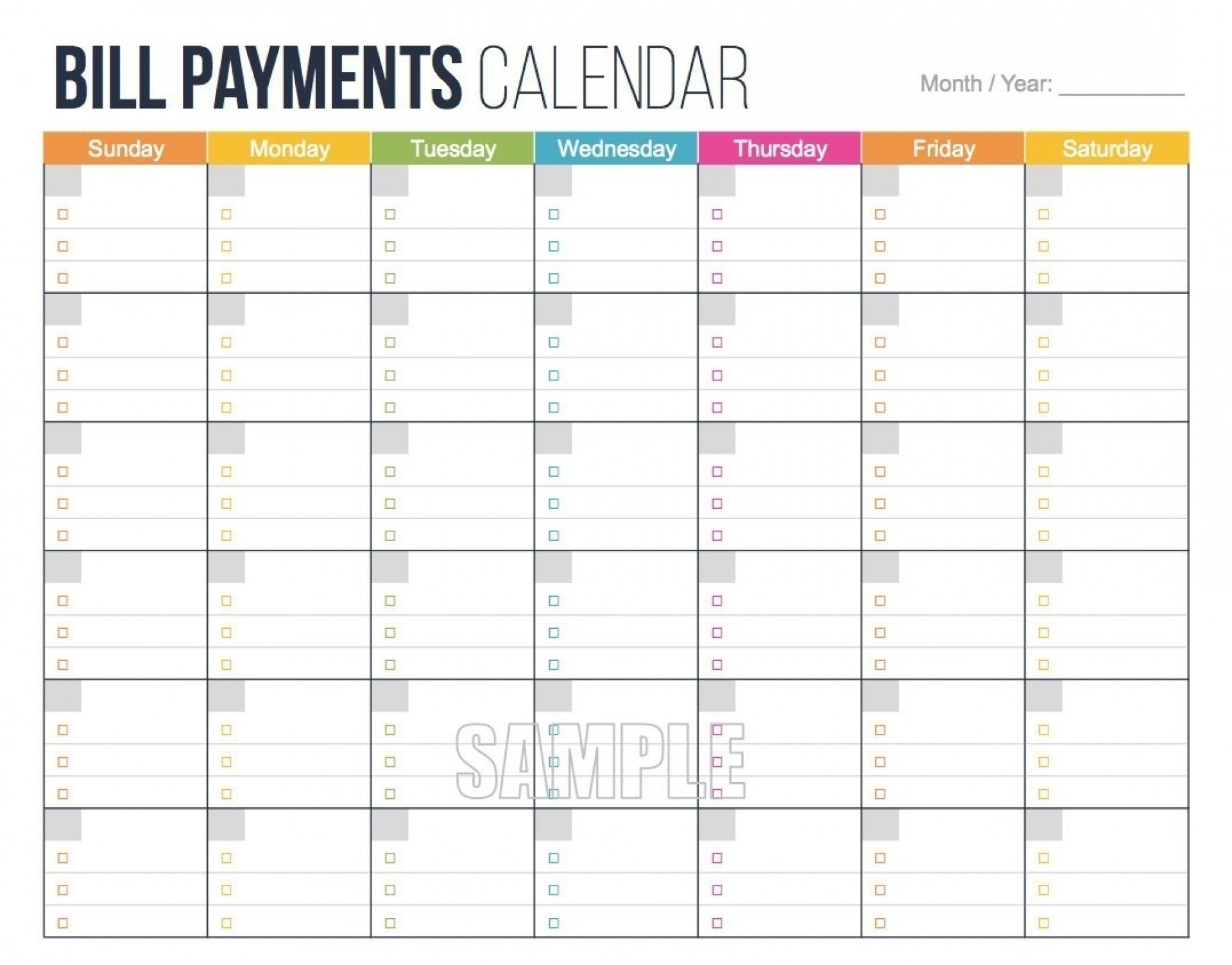 002 Free Printable Bill Pay Calendar Template Within Best-Monthly Bill Calendar Printable