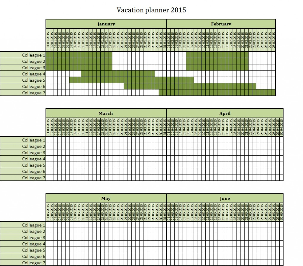 032 Vacation Calendar Template Printable Yearly Excel For-Staff Vacation Calendar Template