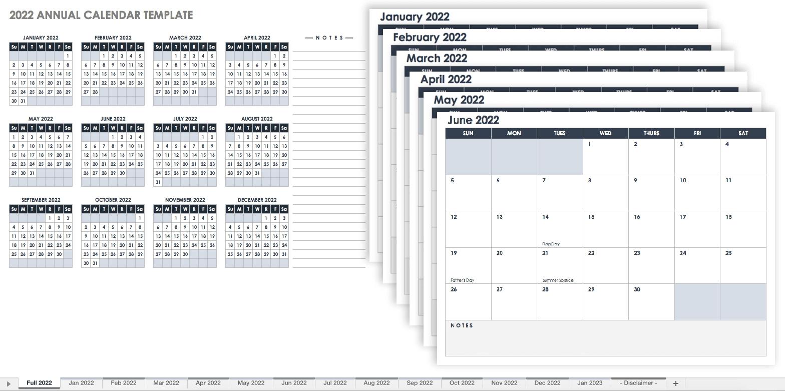 15 Free Monthly Calendar Templates | Smartsheet-Printable Monthly Calander Sheets