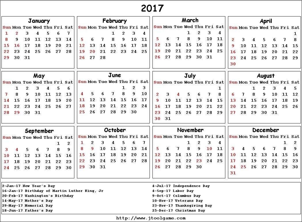 2017 Calendar Vertex | Printable Calendar Template, Blank-Calendar Templates By Vertex