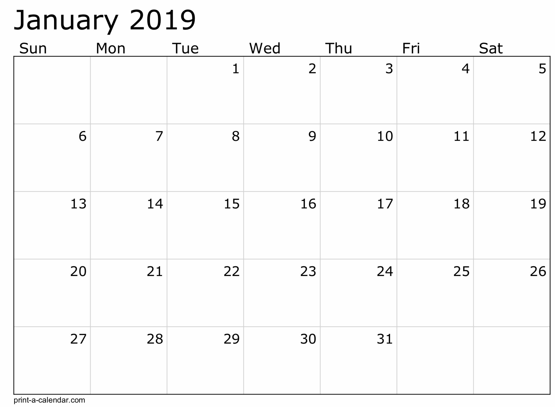 2019 Free Printable Calendar Templates - A Mother's Random-8 X 10 Prinable Blank Monthly Calendar