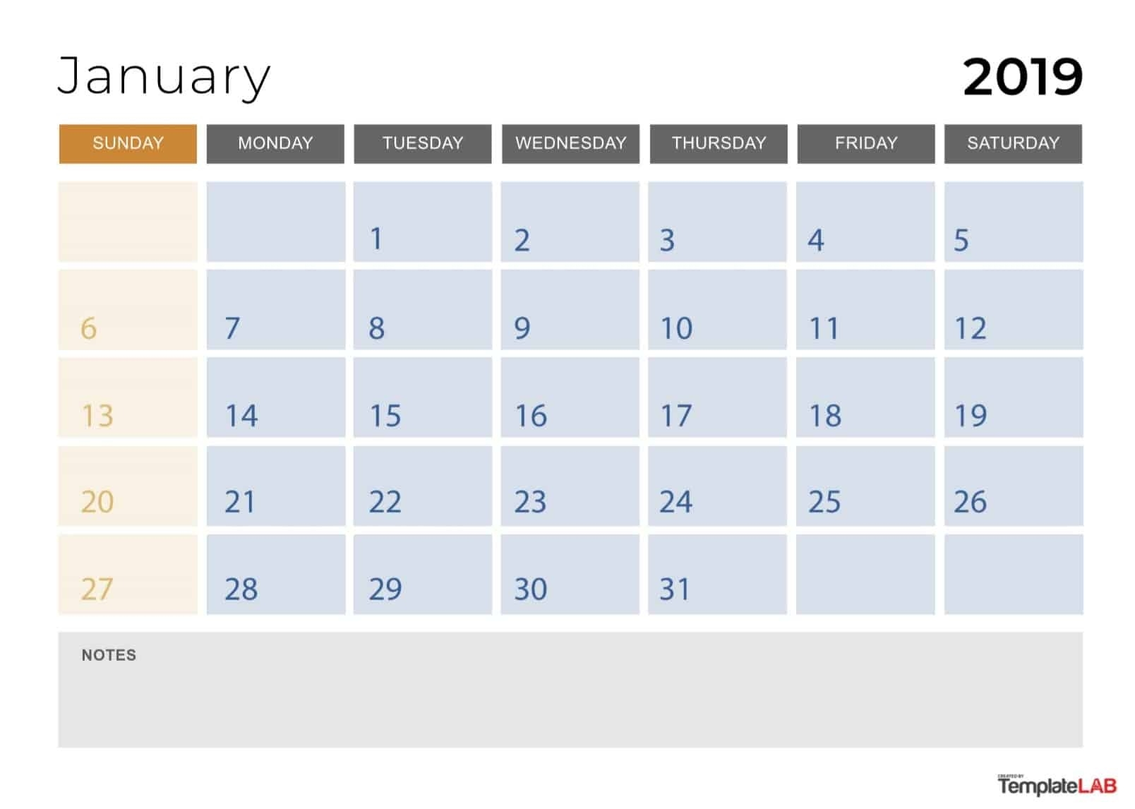 2019 Printable Calendars [Monthly, With Holidays, Yearly] ᐅ-2 Monthly Printable Calender