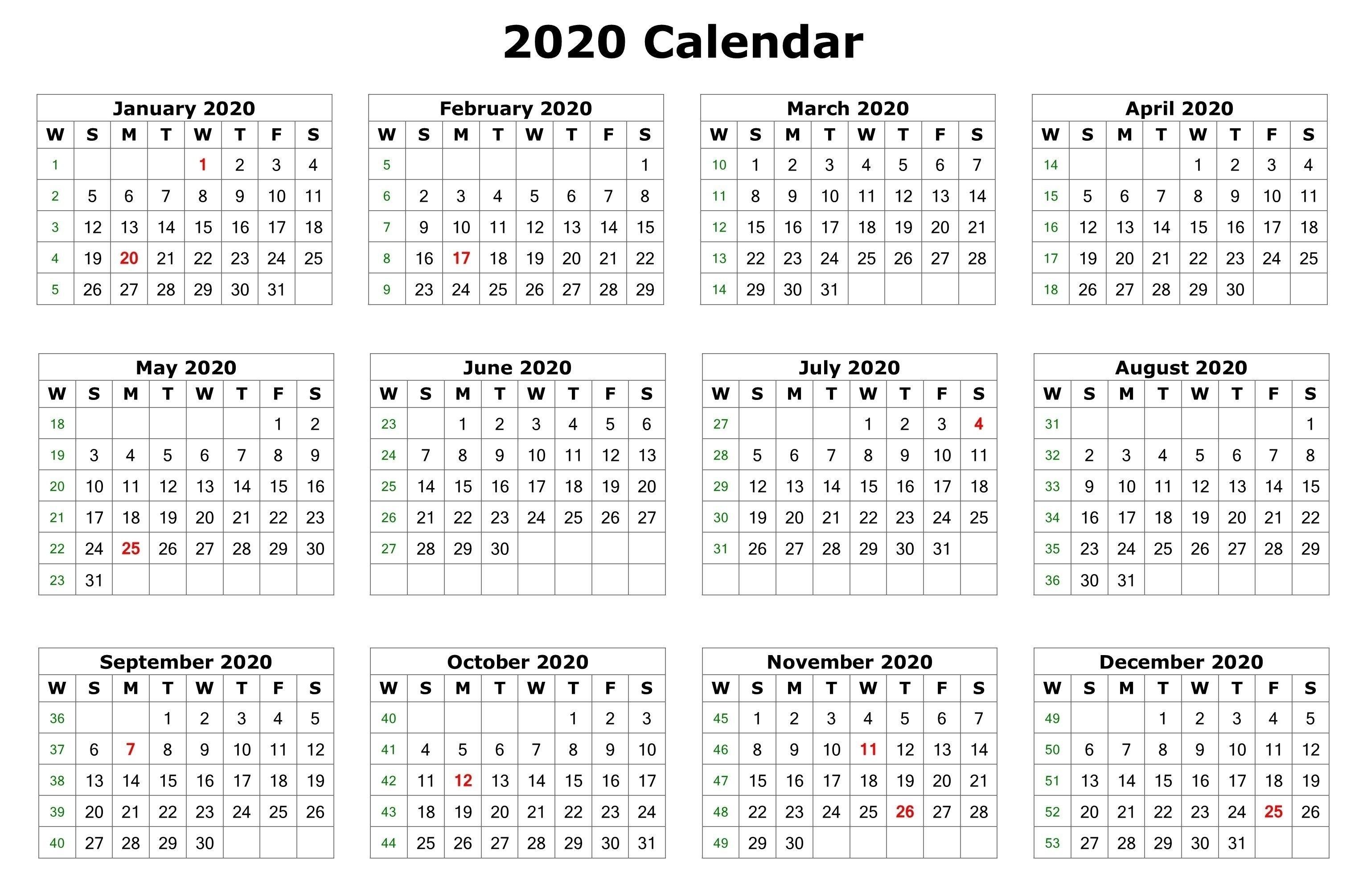 2020 12 Month Calendar – Urgup.ewrs2018-Monthly Calendar-Monthly Calendar Printable 2020 Portrait Monday Start
