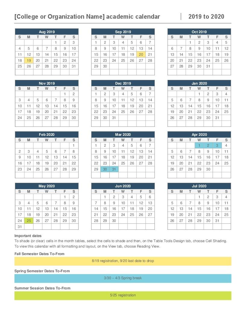 2020 Attendance Calendar Template - Wpa.wpart.co-Printable 2020 Attendance Calendar Template