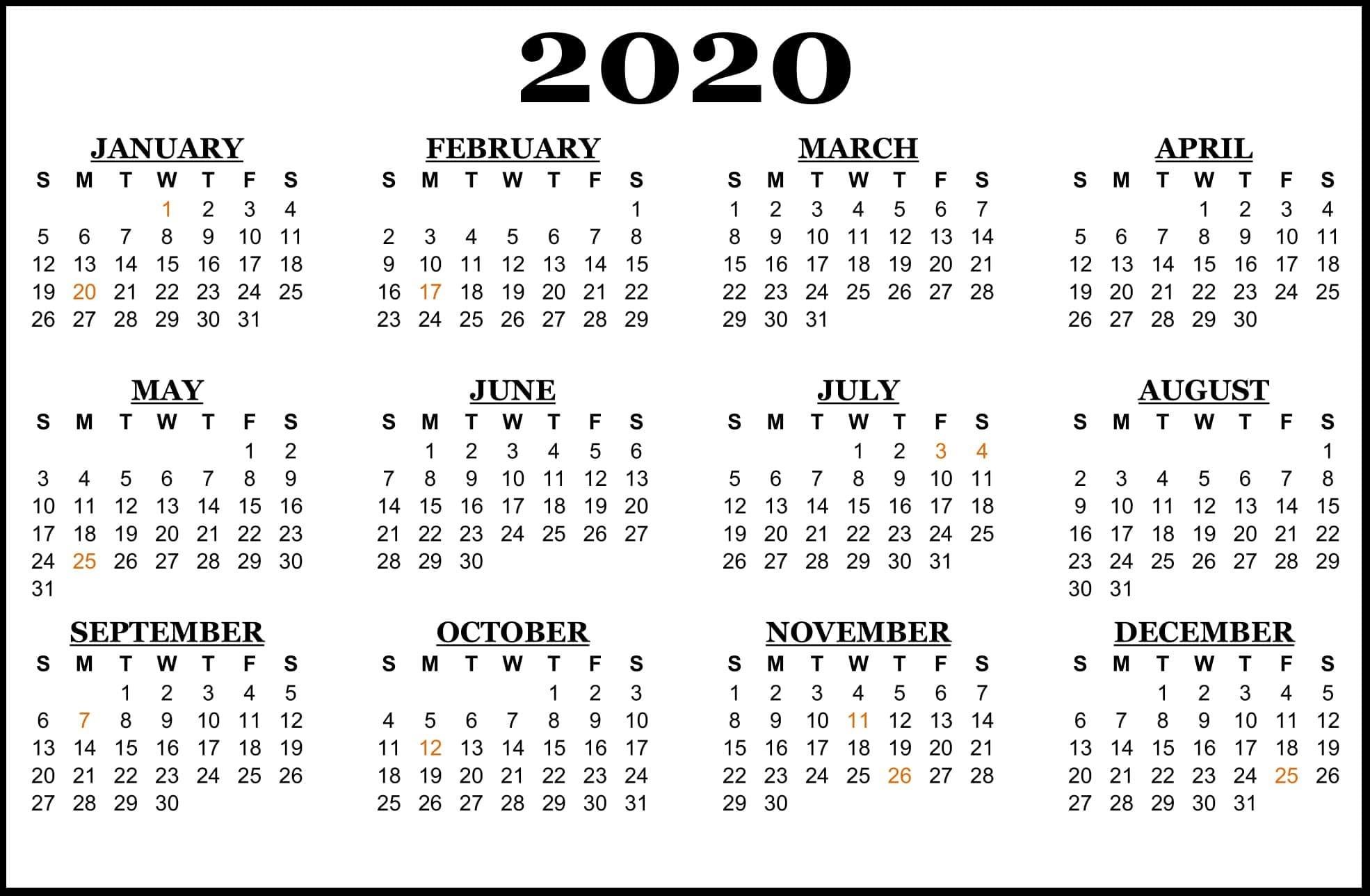 2020-Calendar-Us-Holidays-S A Public Holidays 2020