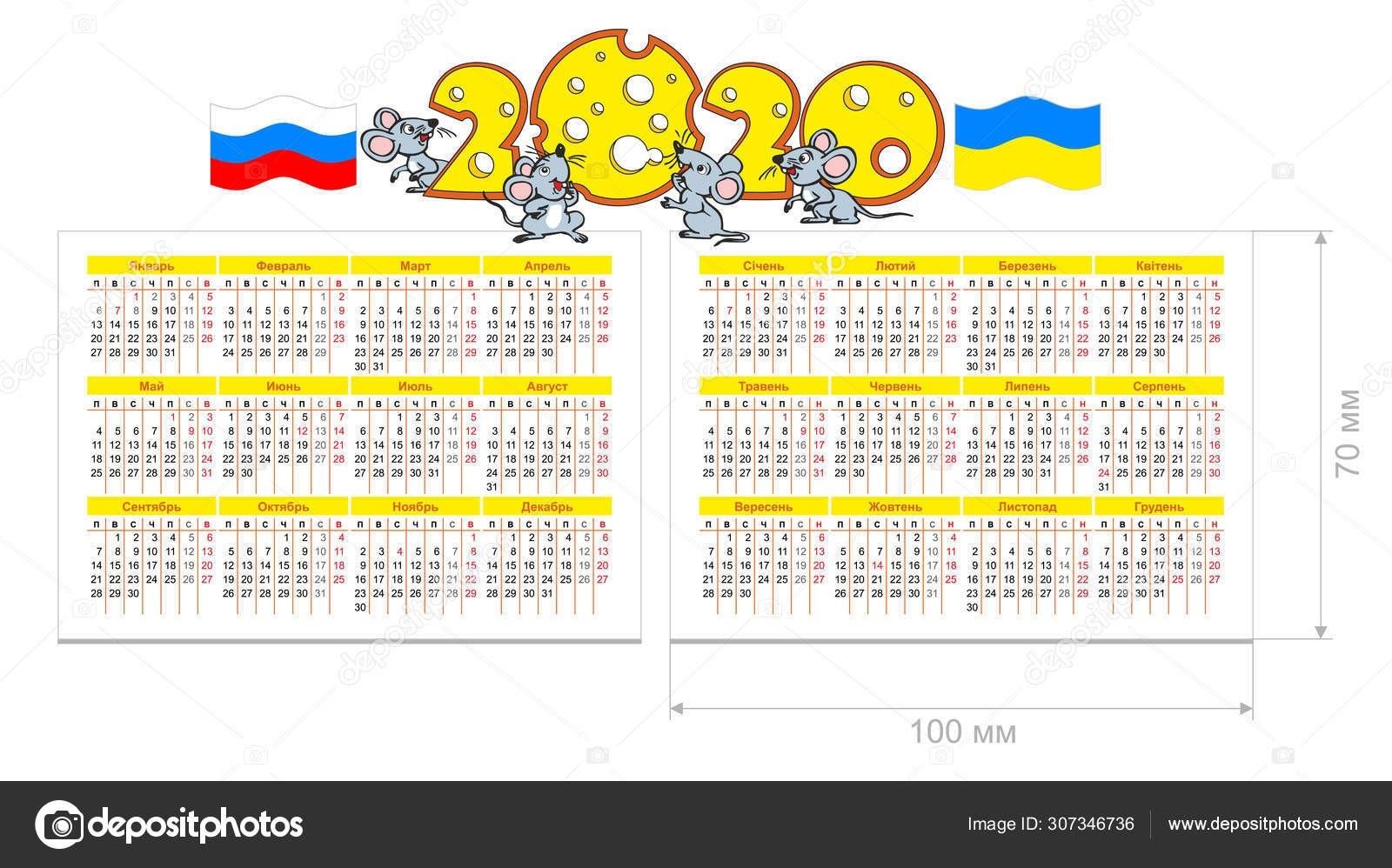 2020 Pocket Calendar — Stock Vector © Virtis #307346736-Calendar For 2020 Indicating Public Holidays