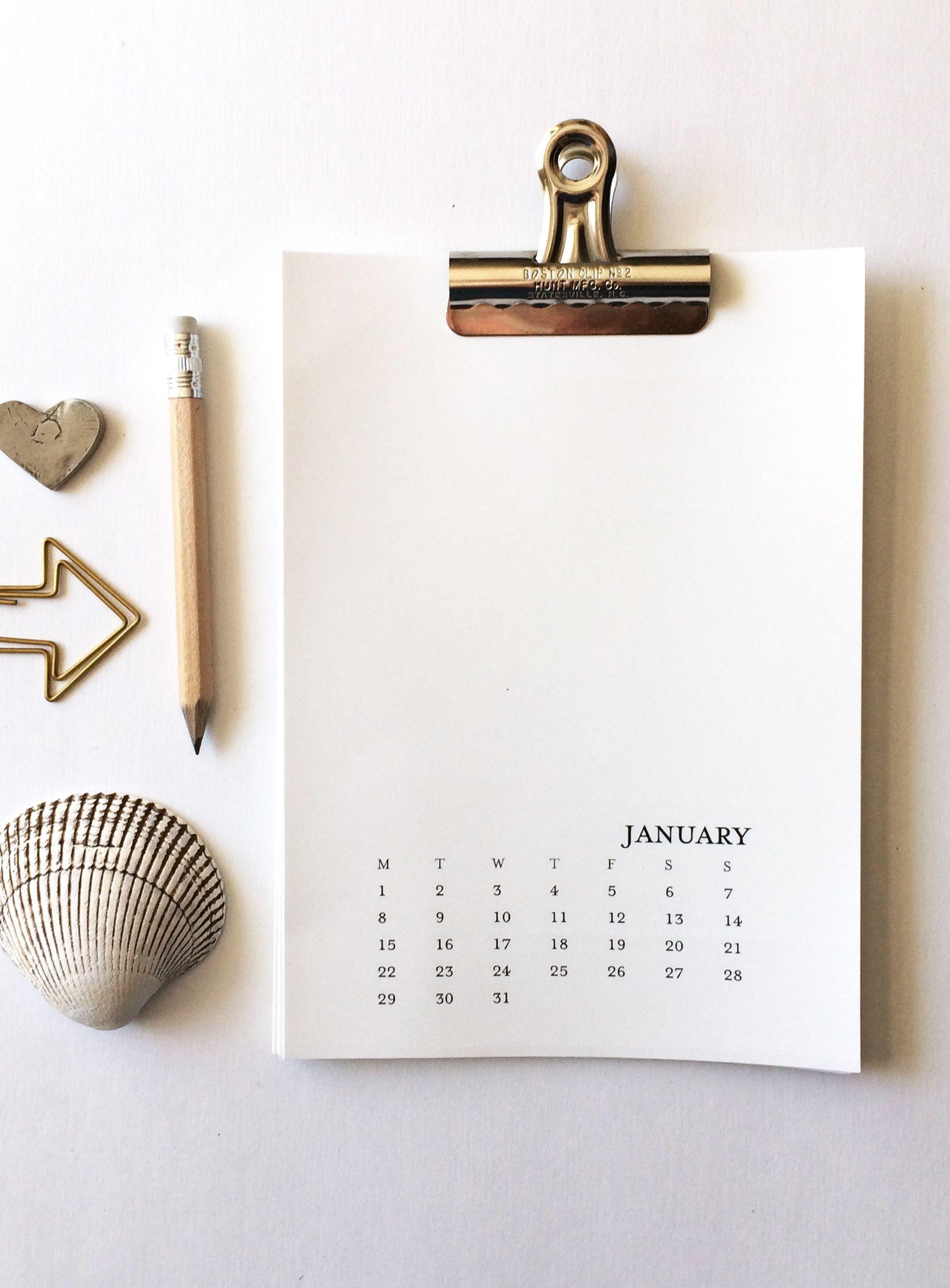 2020 Printable Calendar 5X7 Monday-Sunday - Printable-Blank 2020 W 9