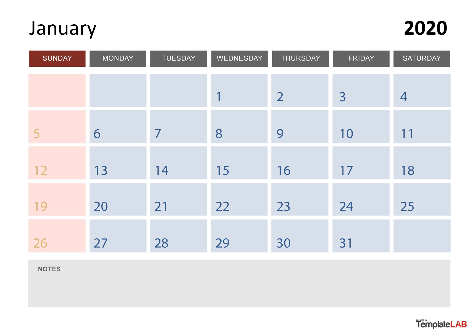 2020 Printable Calendars [Monthly, With Holidays, Yearly] ᐅ-Vacation Planner Template 2020