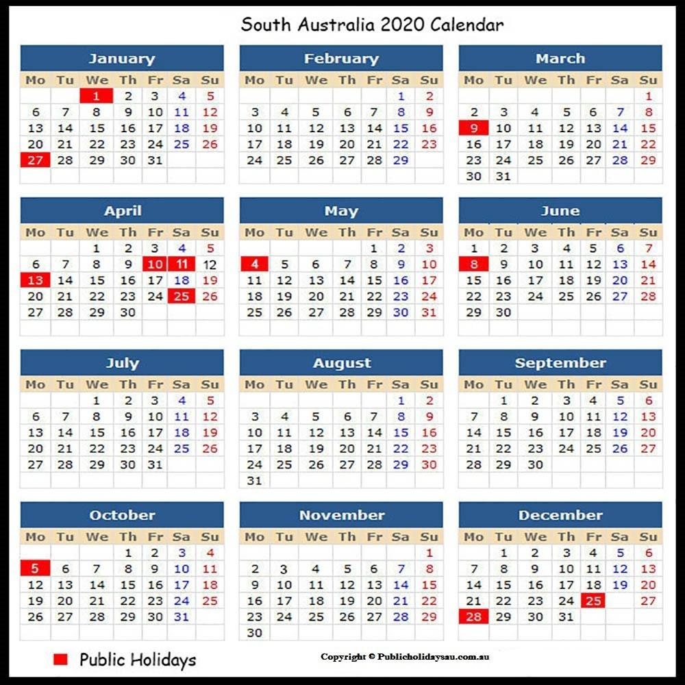 2020 Public Holidays Sa-S A Public Holidays 2020