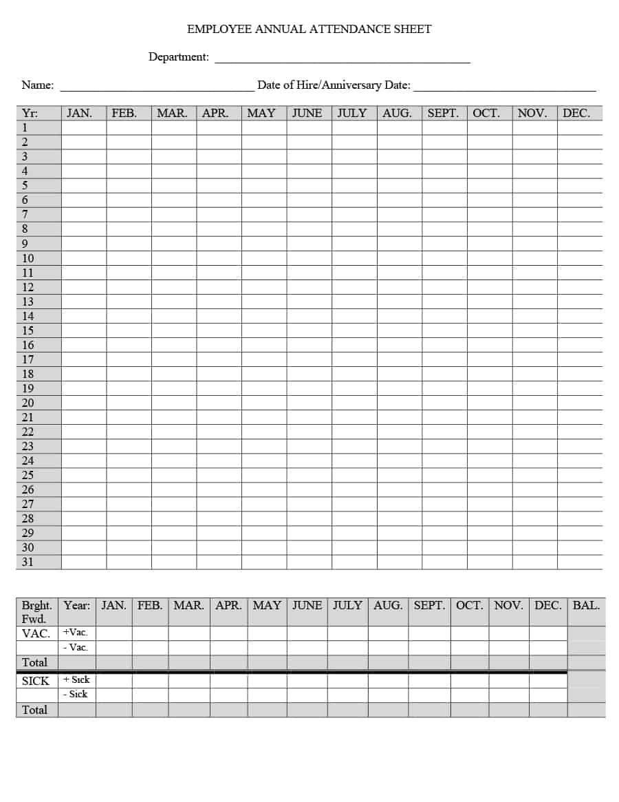 40+ Free Attendance Tracker Templates [Employee, Student-Meeting Attendance Tracker Template