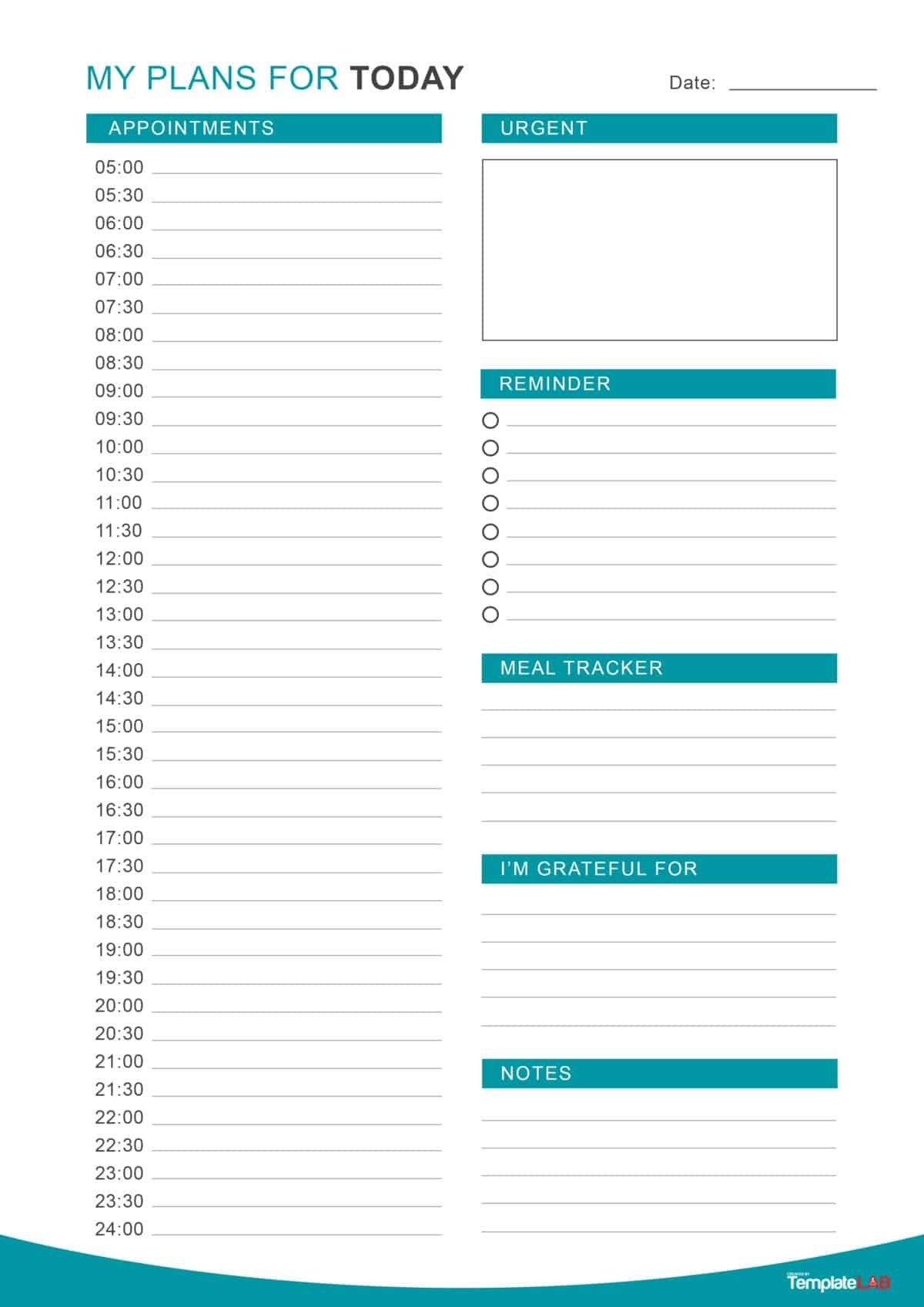 47 Printable Daily Planner Templates (Free In Word/excel/pdf)-Daily Hourly Calendar Template 2020 Printable
