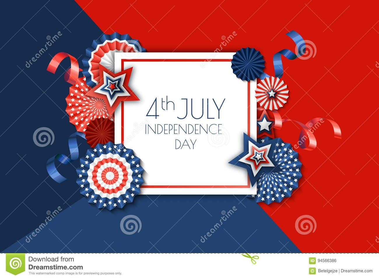 4Th Of July, Usa Independence Day Banner Template.. Color-July 4Th Closed Sign Template