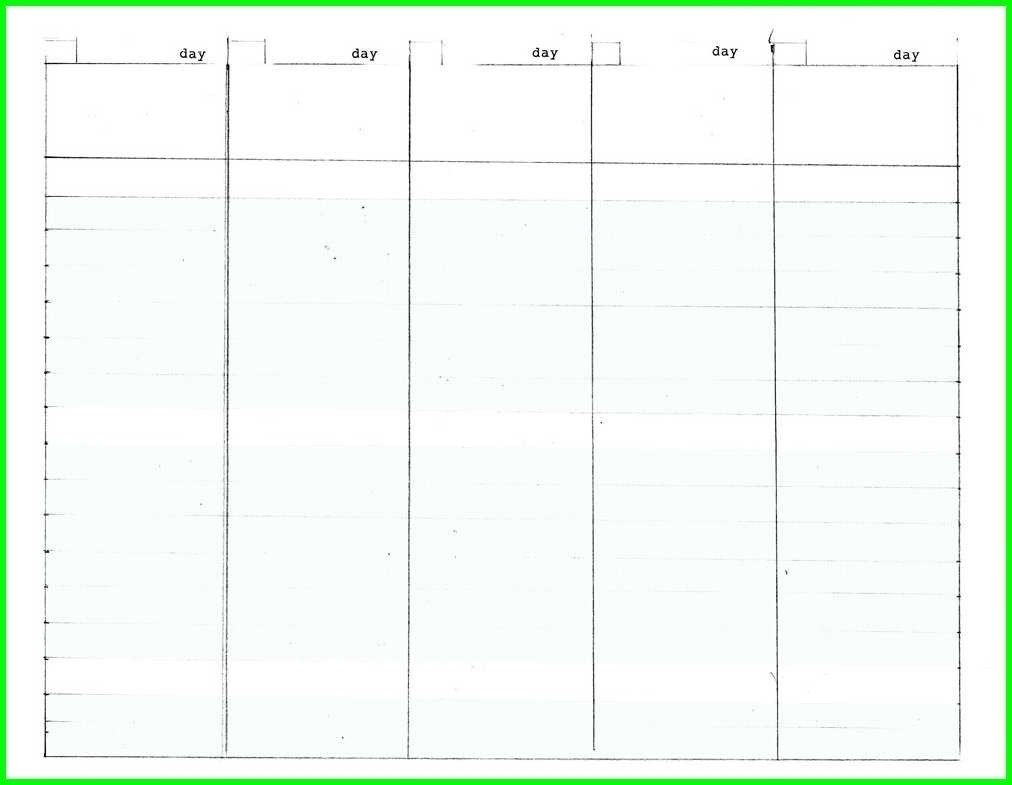 5 Day Week Calendar Printable - Calendar Inspiration Design-5 Day Blank Calendar