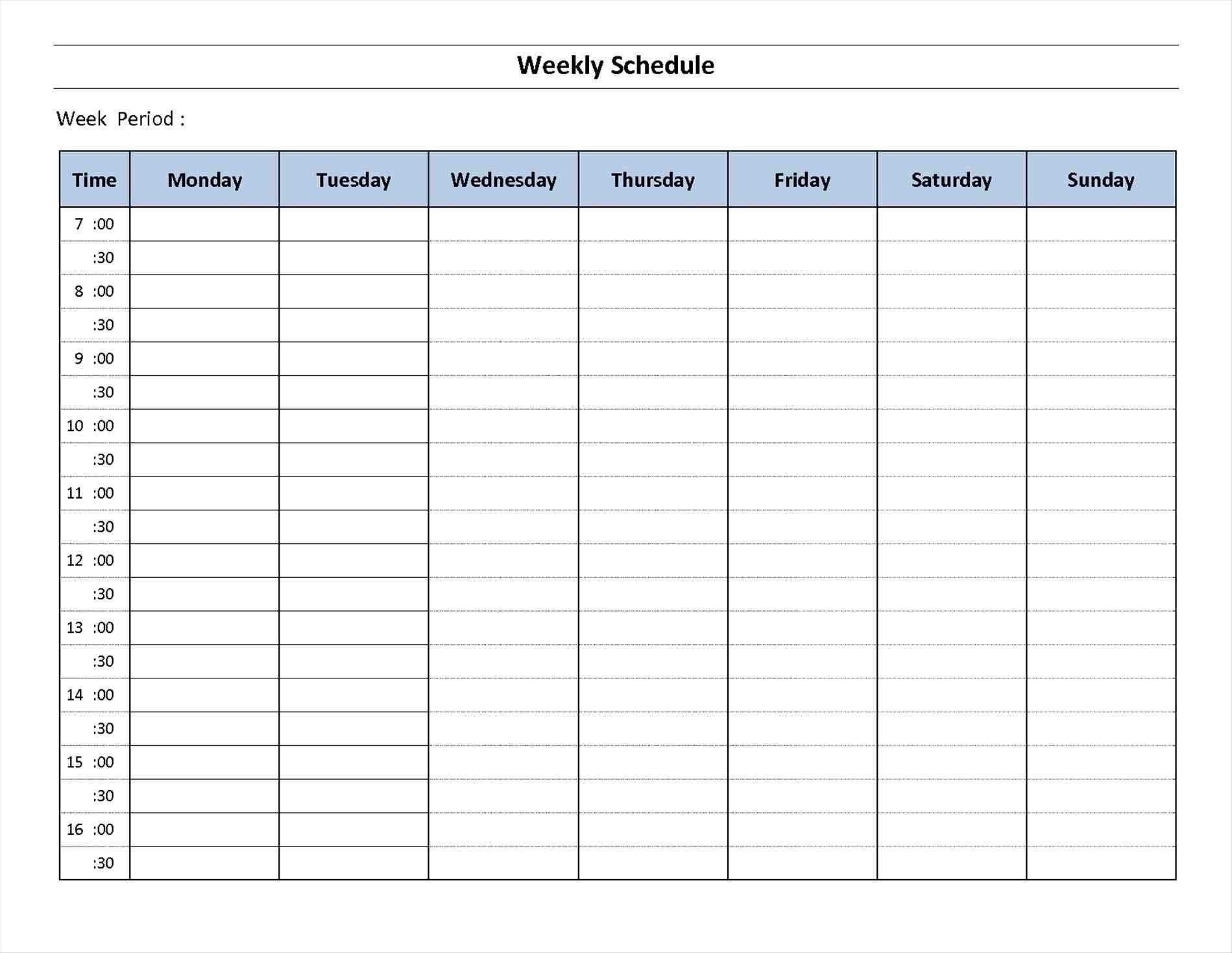 7 Day Week Calendar Printable | Template Calendar Printable-7 Week Calendar Template