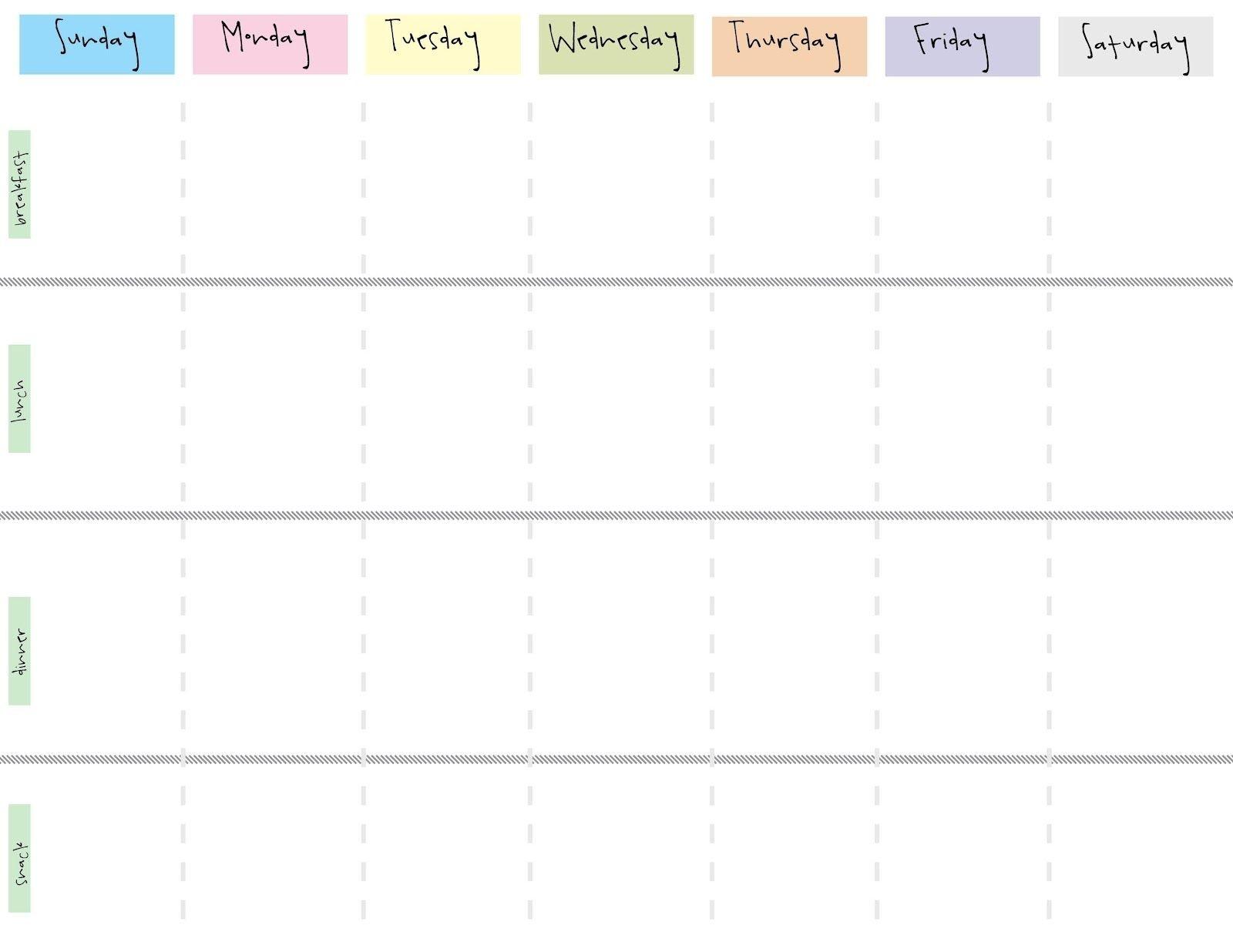 8 Best Images Of Cute Printable Weekly Calendar Printable-8 Week Blank Calendar Printable