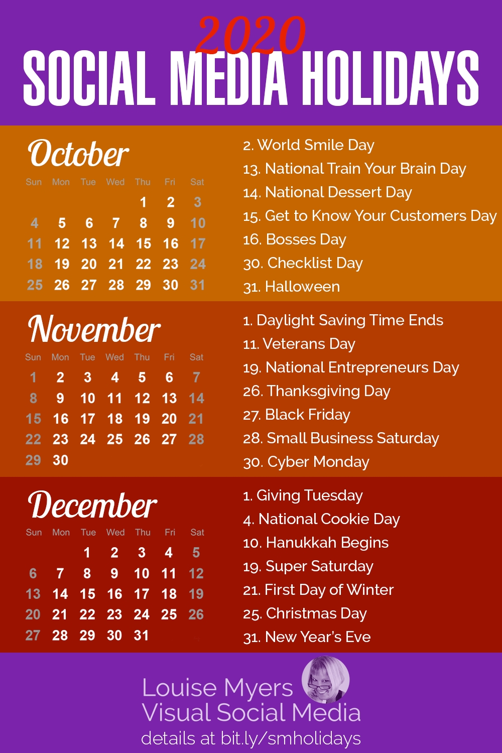 84 Social Media Holidays You Need In 2020: Indispensable!-List By Month Of All Holidays