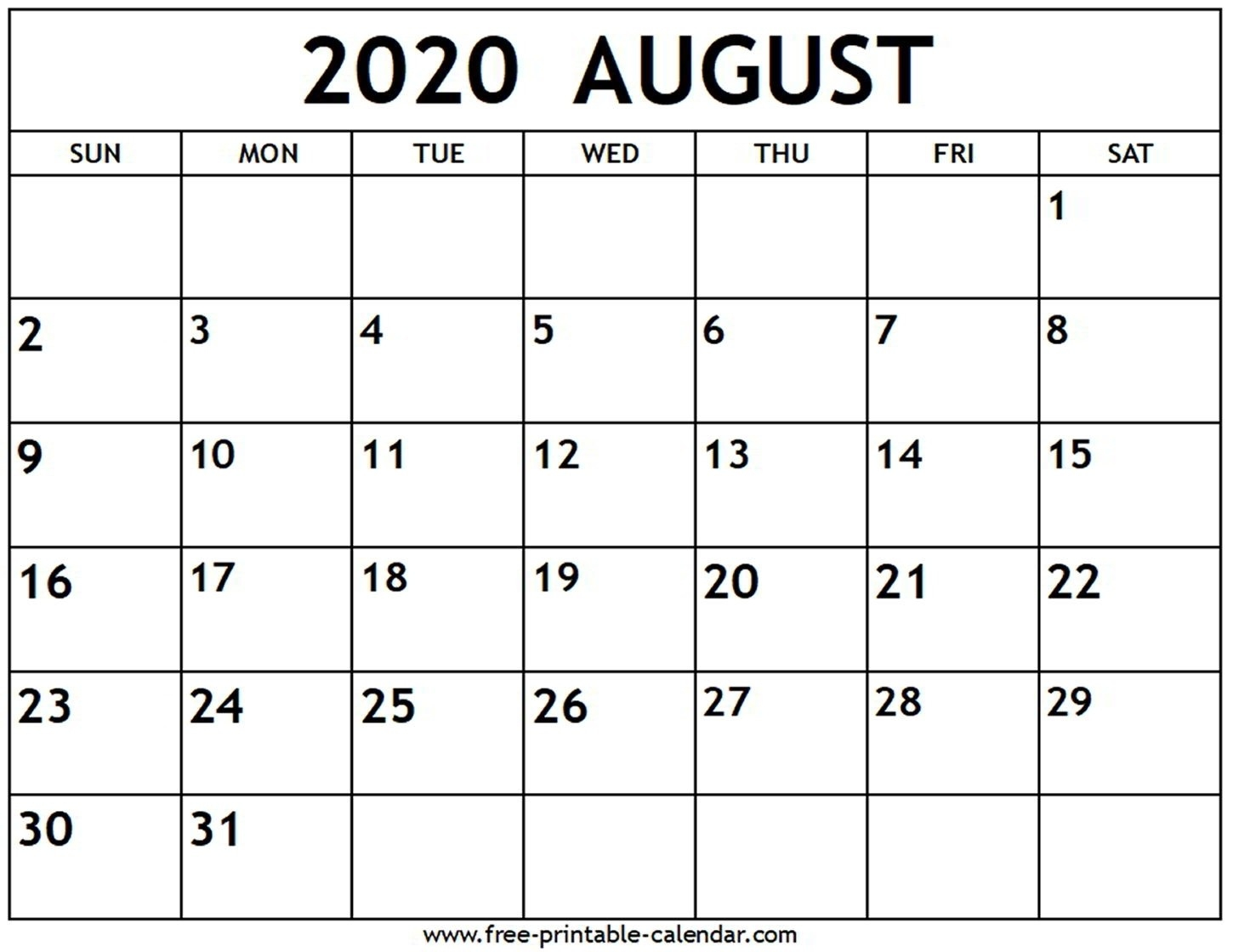 A Monthly Calander For June July August 2020   Monthly-Monthly Calendar June July August 2020