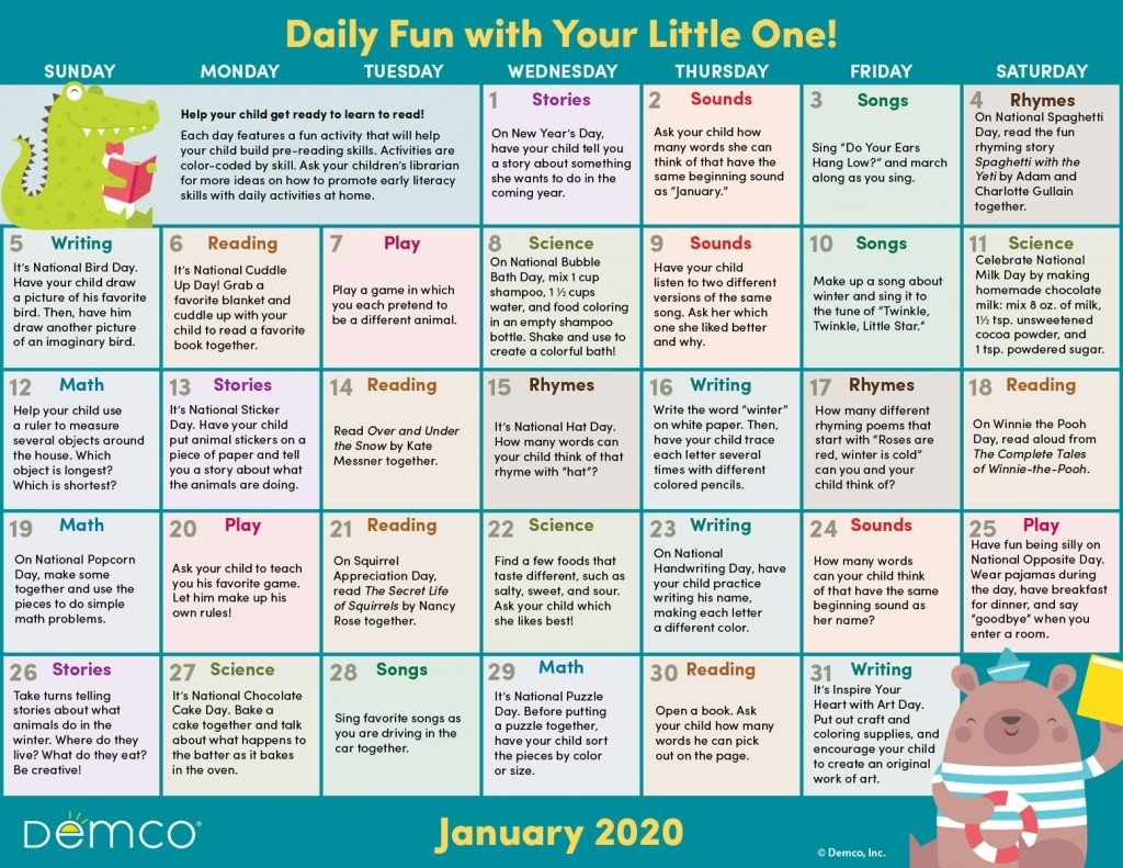 Activity Calendar Archives - Ideas & Inspiration From Demco-Monthly Wellness Topics 2020