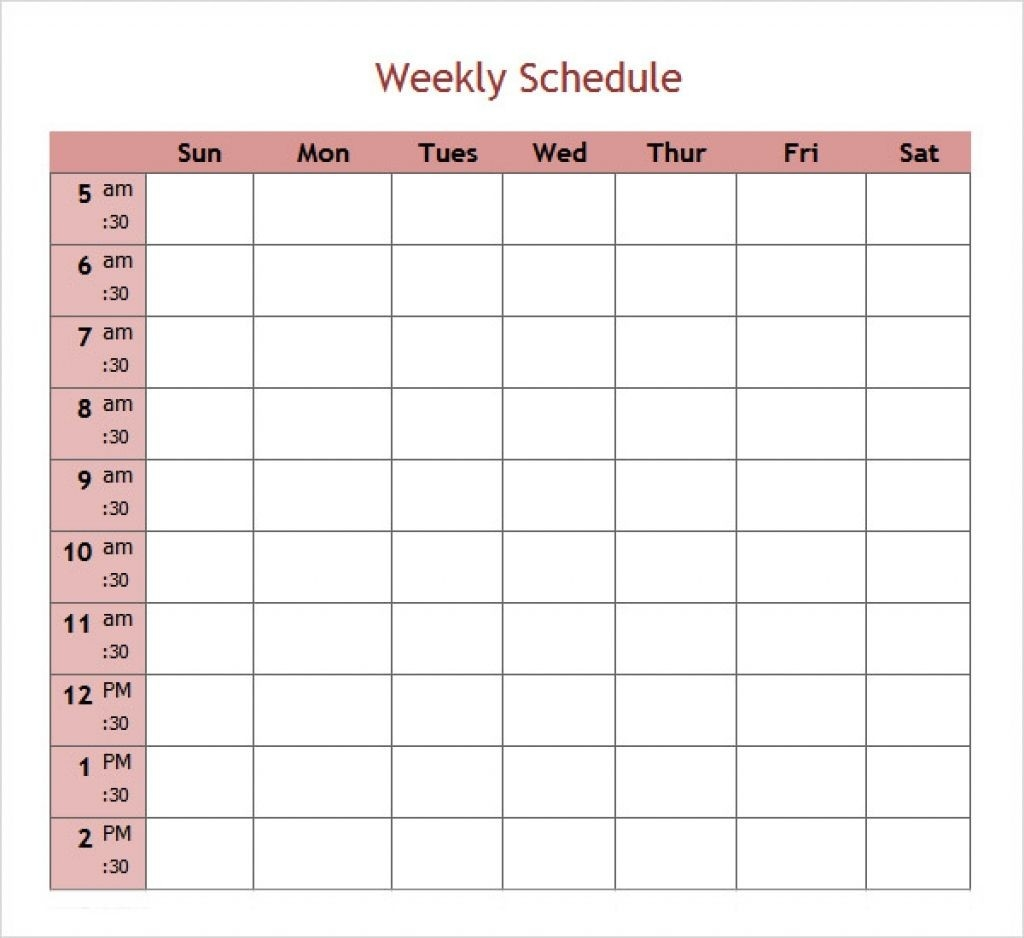 Best Photos Of 5 Day Calendar Template Microsoft Weekly-5 Day Weekly Planner Template
