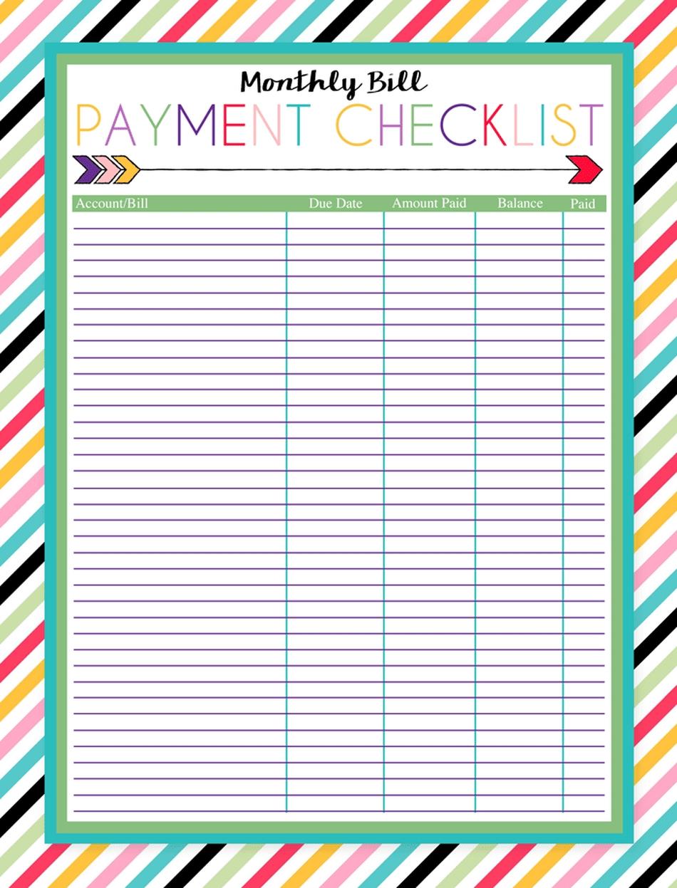 Bill Calendar Template - Wpa.wpart.co-Bill Pay Calendar Template