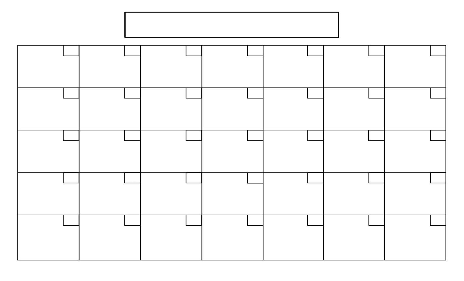 Blank Calendar No Dates - Wpa.wpart.co-Blank Calendar No Dates
