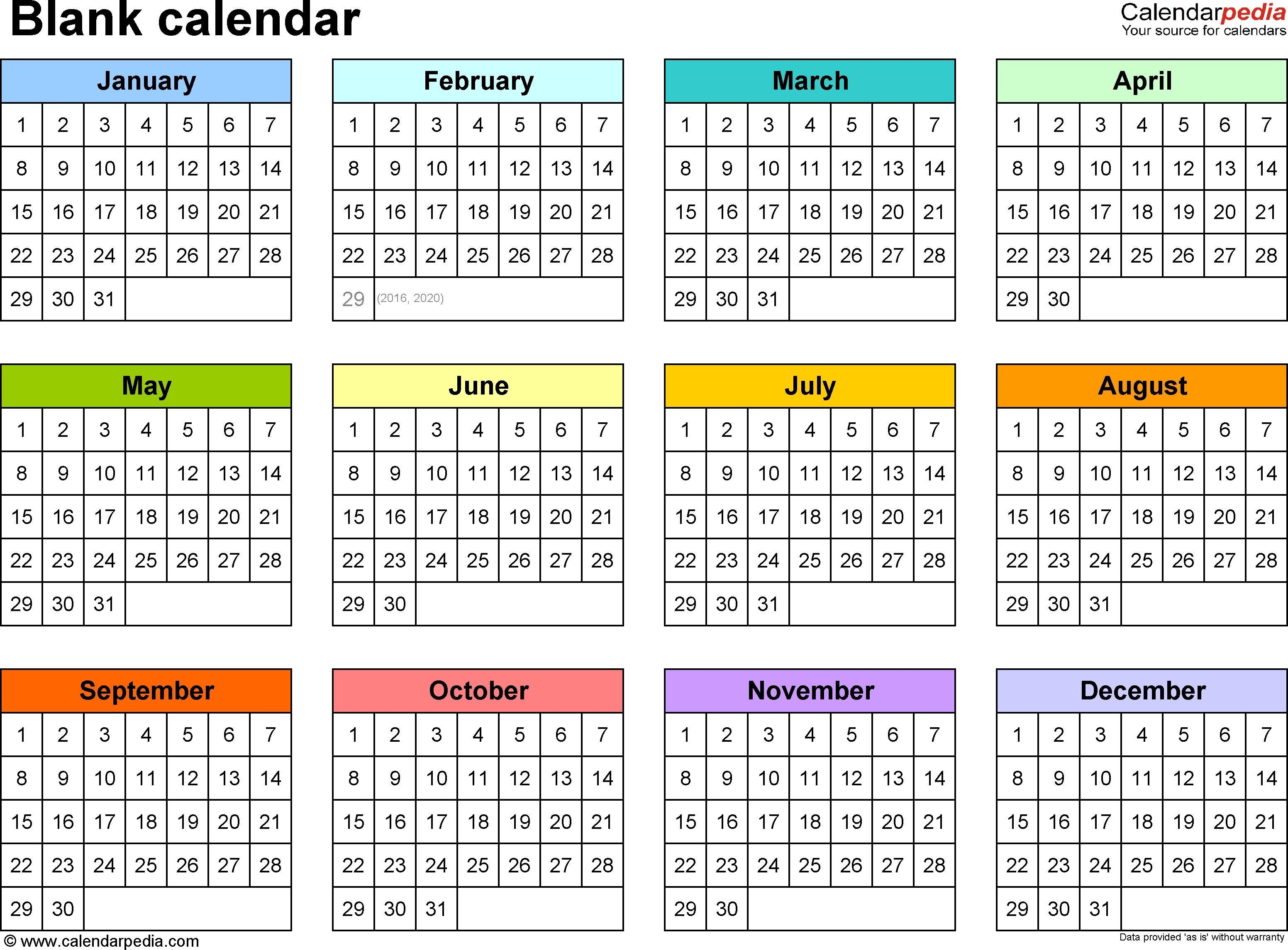 Blank Calendars - Free Printable Microsoft Excel Templates-Print Blank Calander Microsoft 365